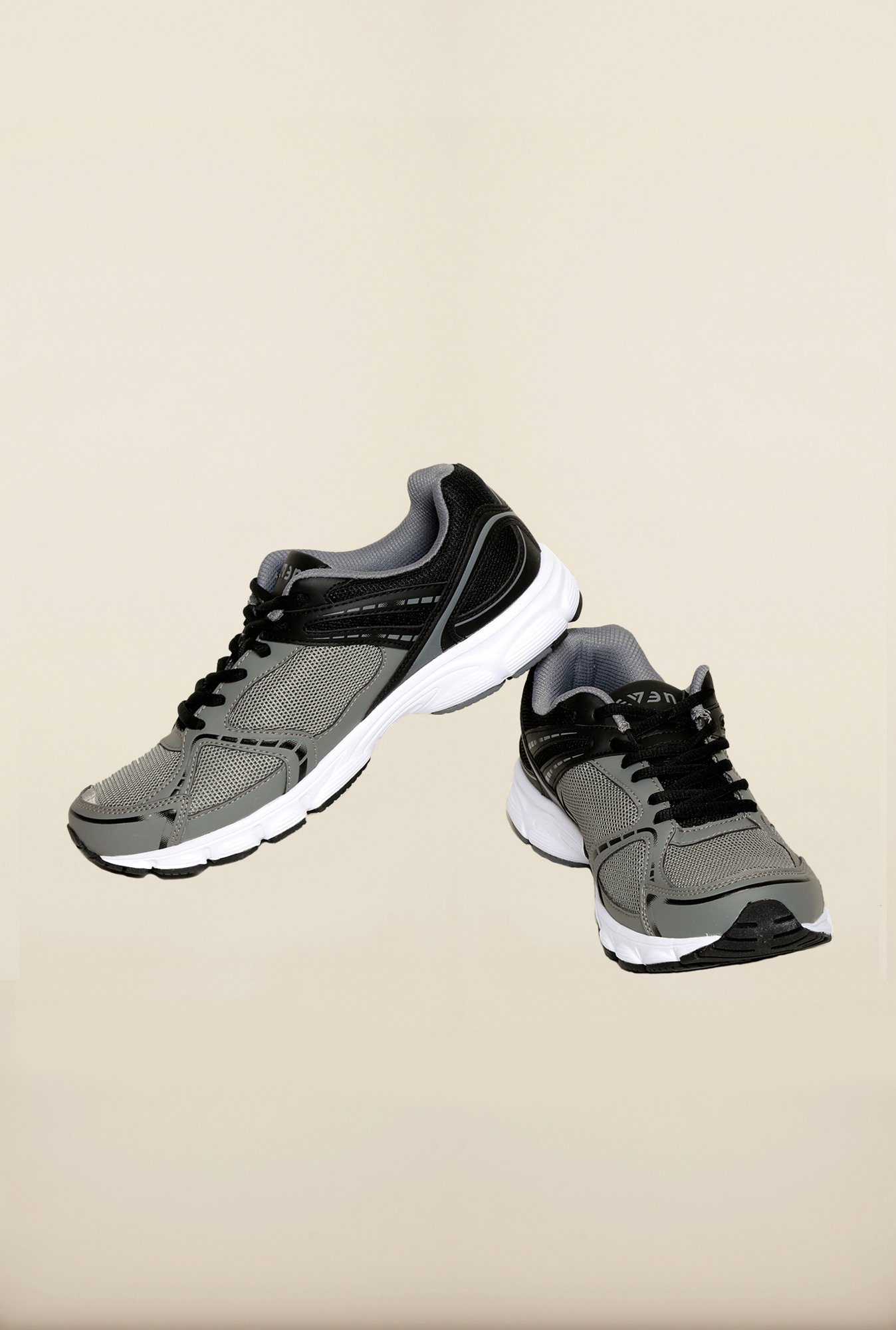 Seven Grey & Black Running Shoes