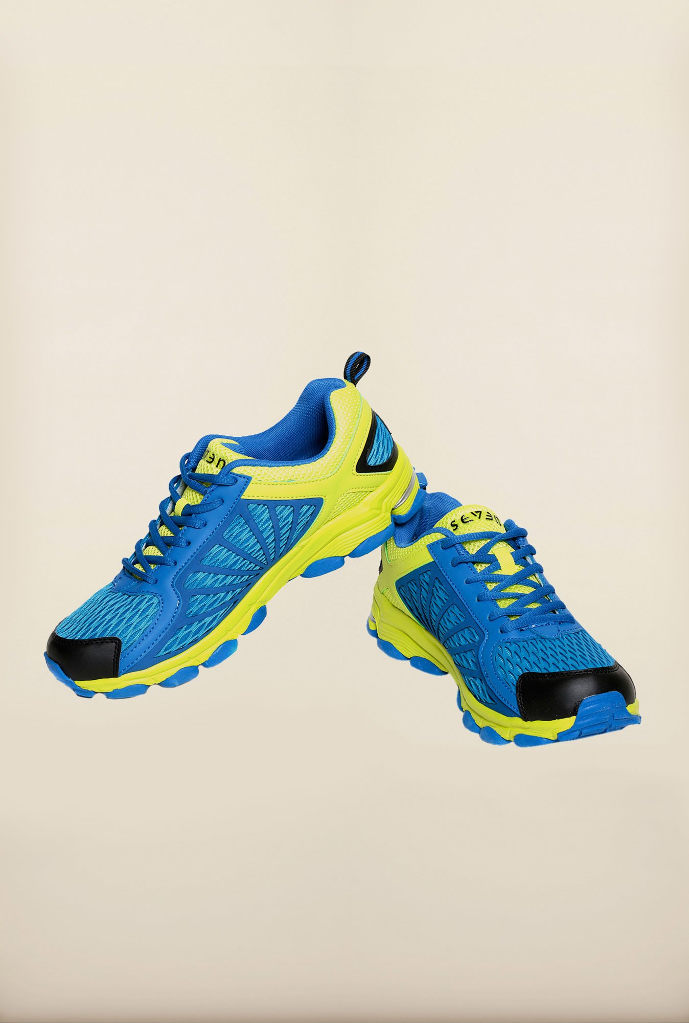 Seven Blue & Lime Running Shoes