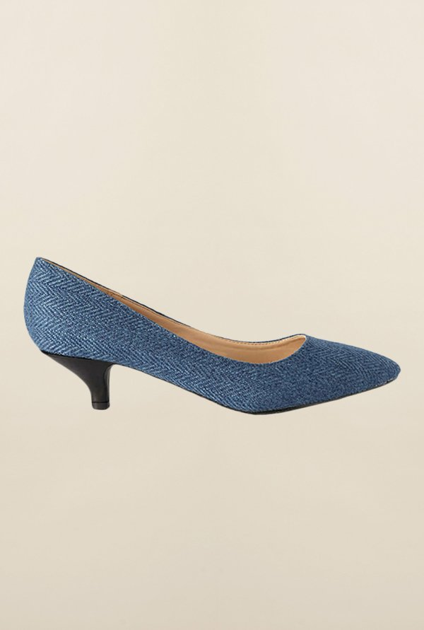 Allen Solly Navy Kitten Heel Shoes