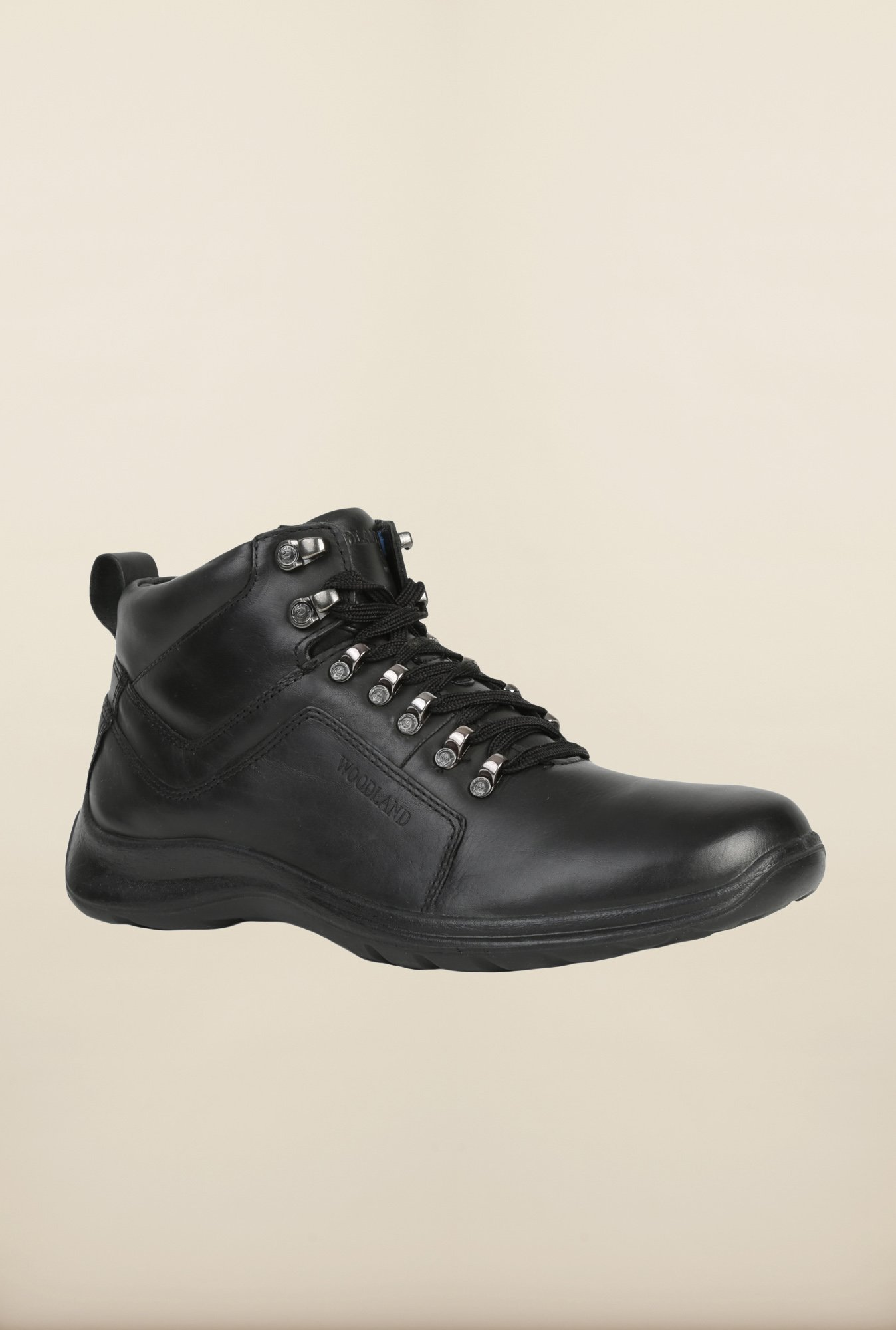 Woodland Black Casual Boots