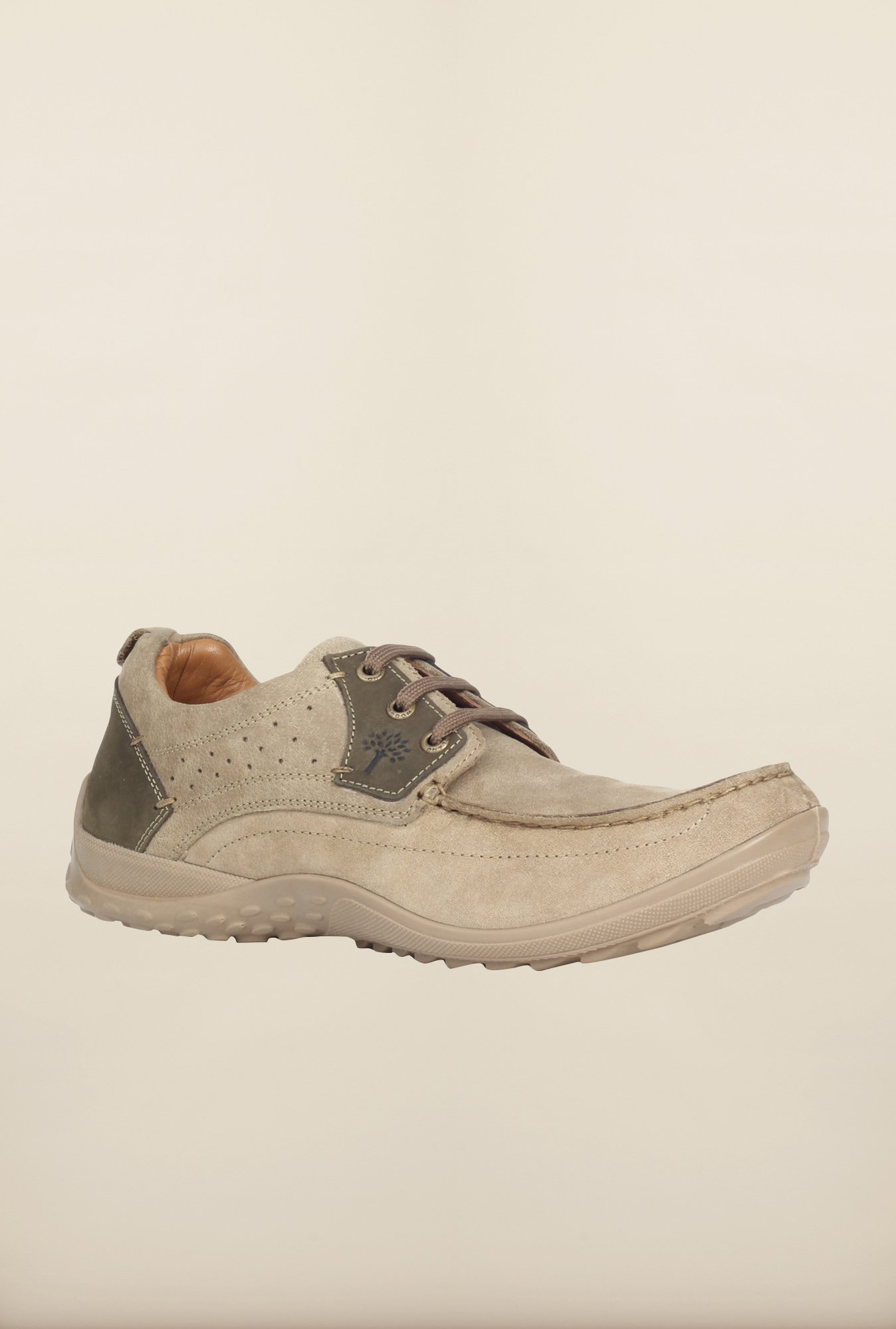 Woodland Beige Casual Shoes