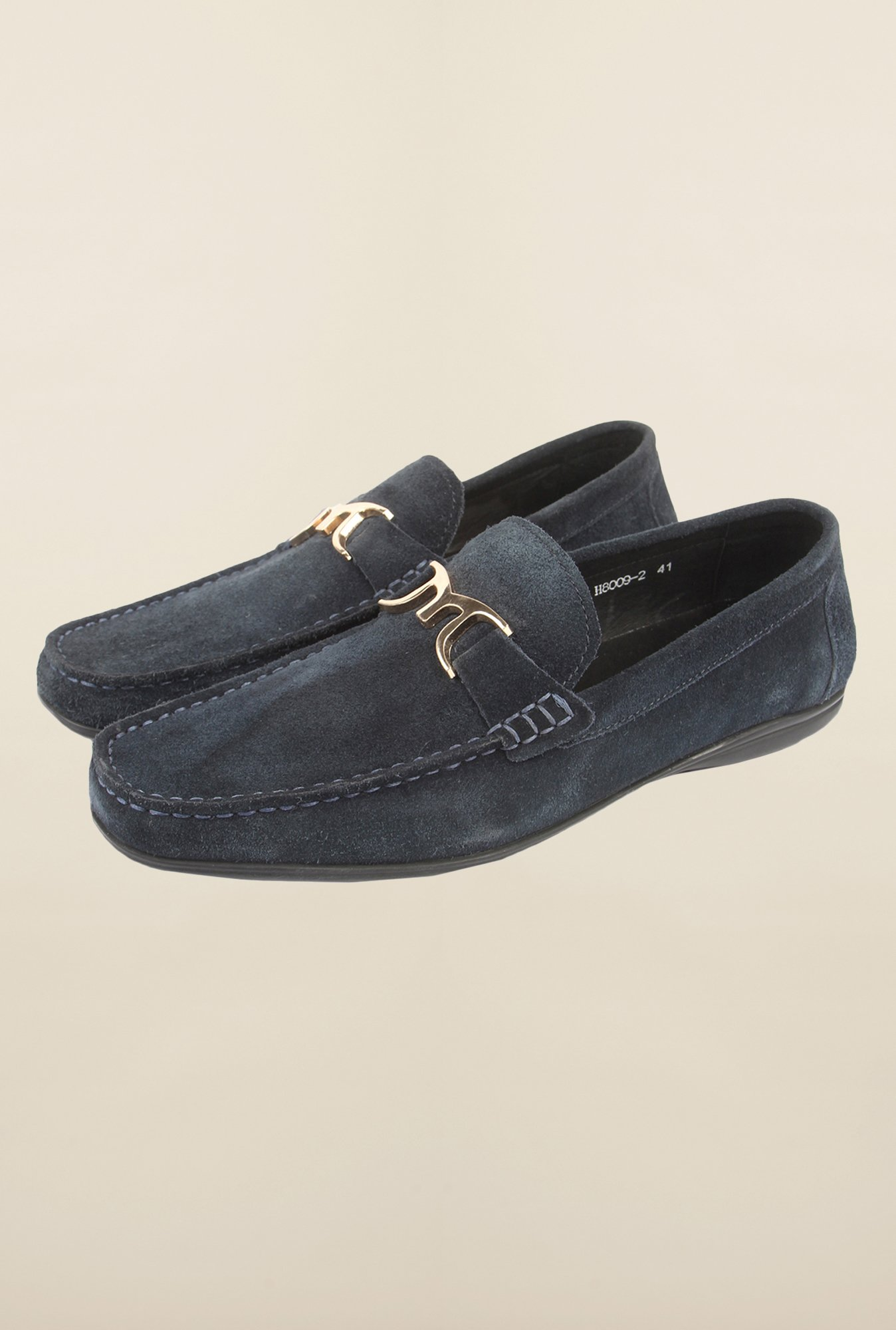 Cobblerz Navy Loafer Shoes