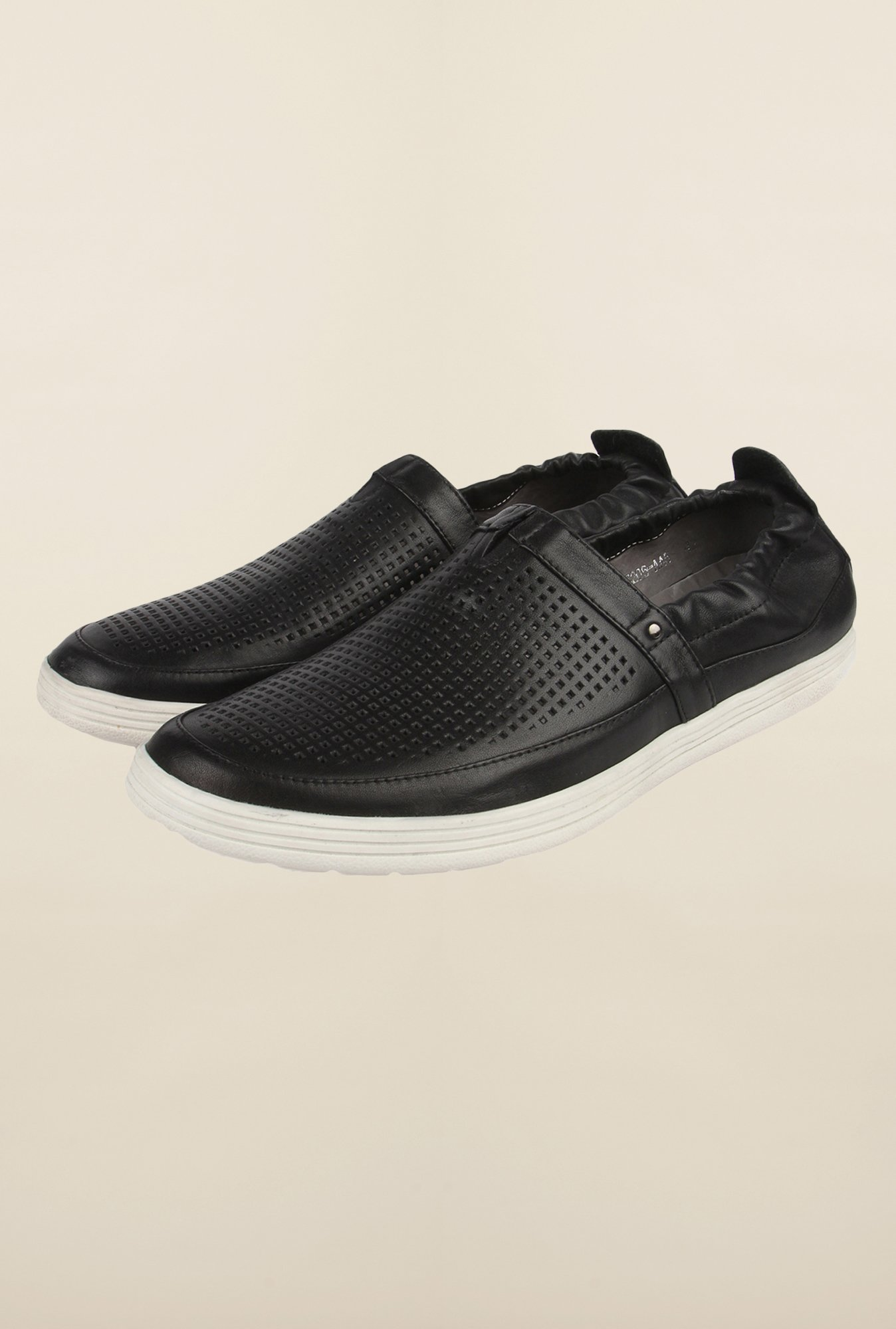 Cobblerz Black Casual Slip-Ons