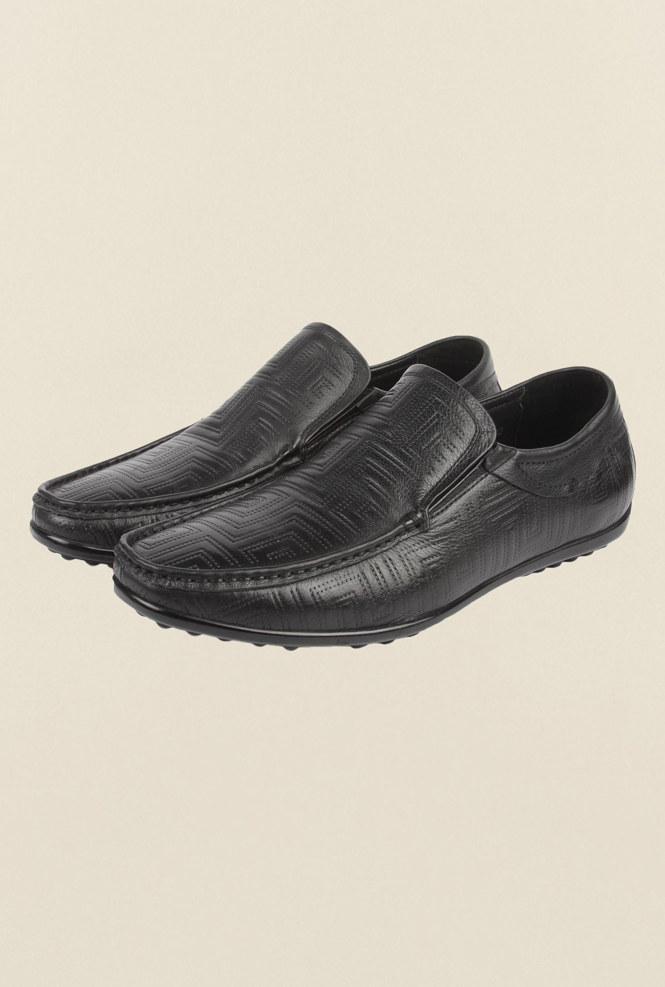 Cobblerz Black Casual Loafers