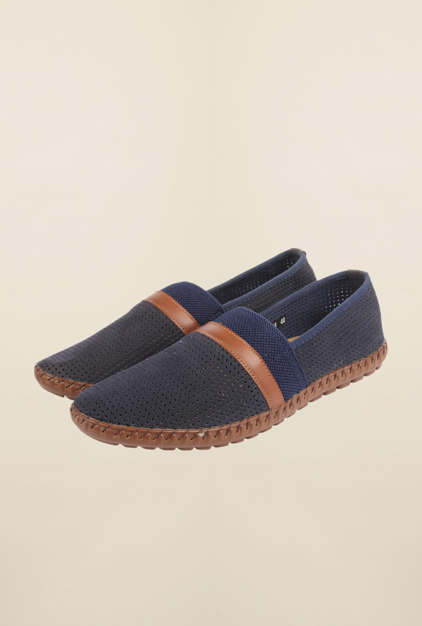 Cobblerz Navy Espadrille Shoes