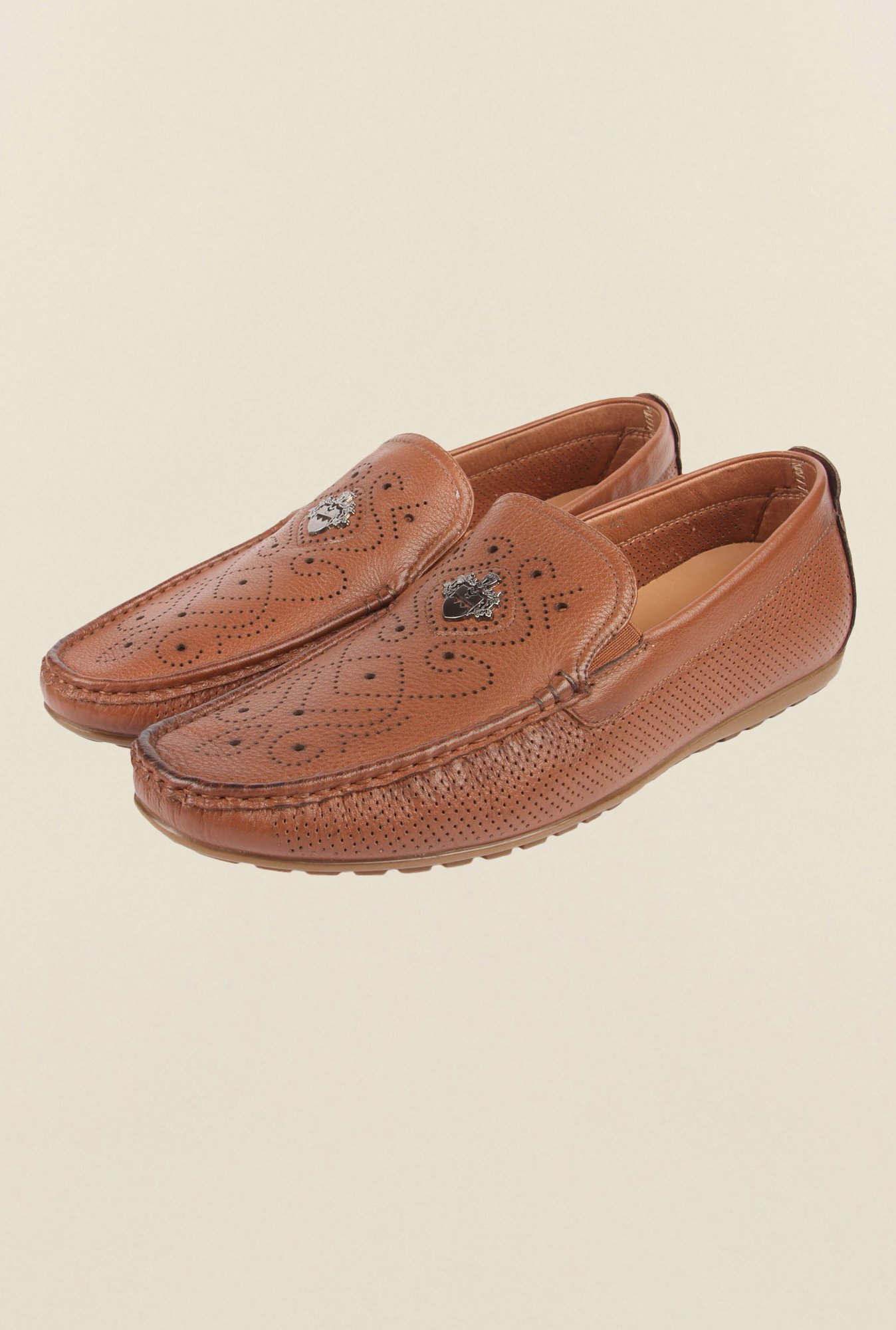 Cobblerz Brown Leather Moccasins