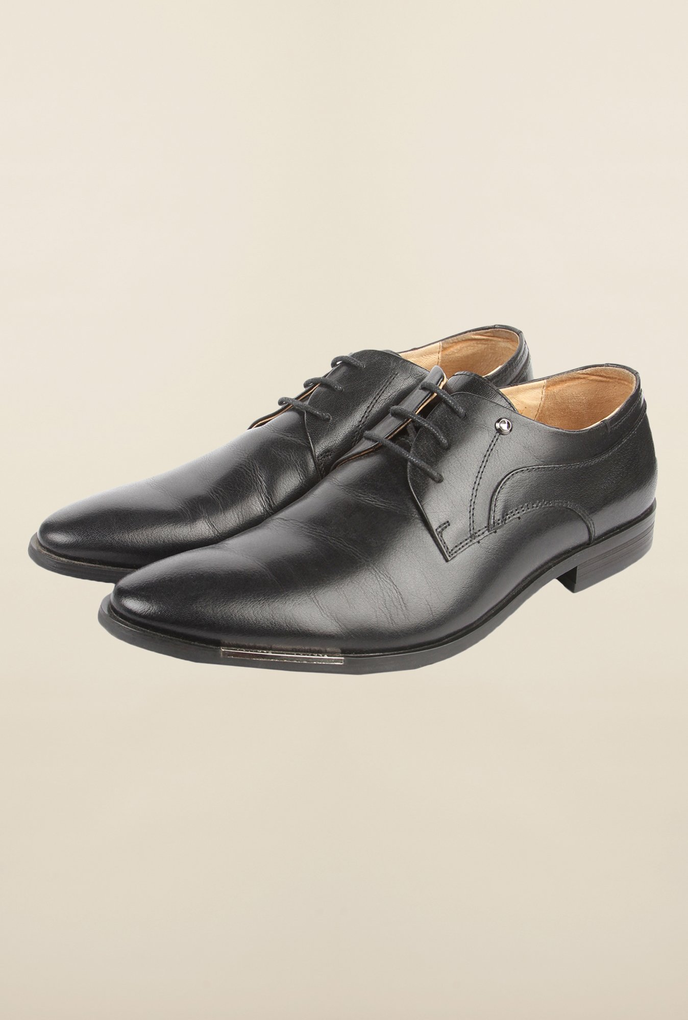 Cobblerz Black Derby Formal Shoes