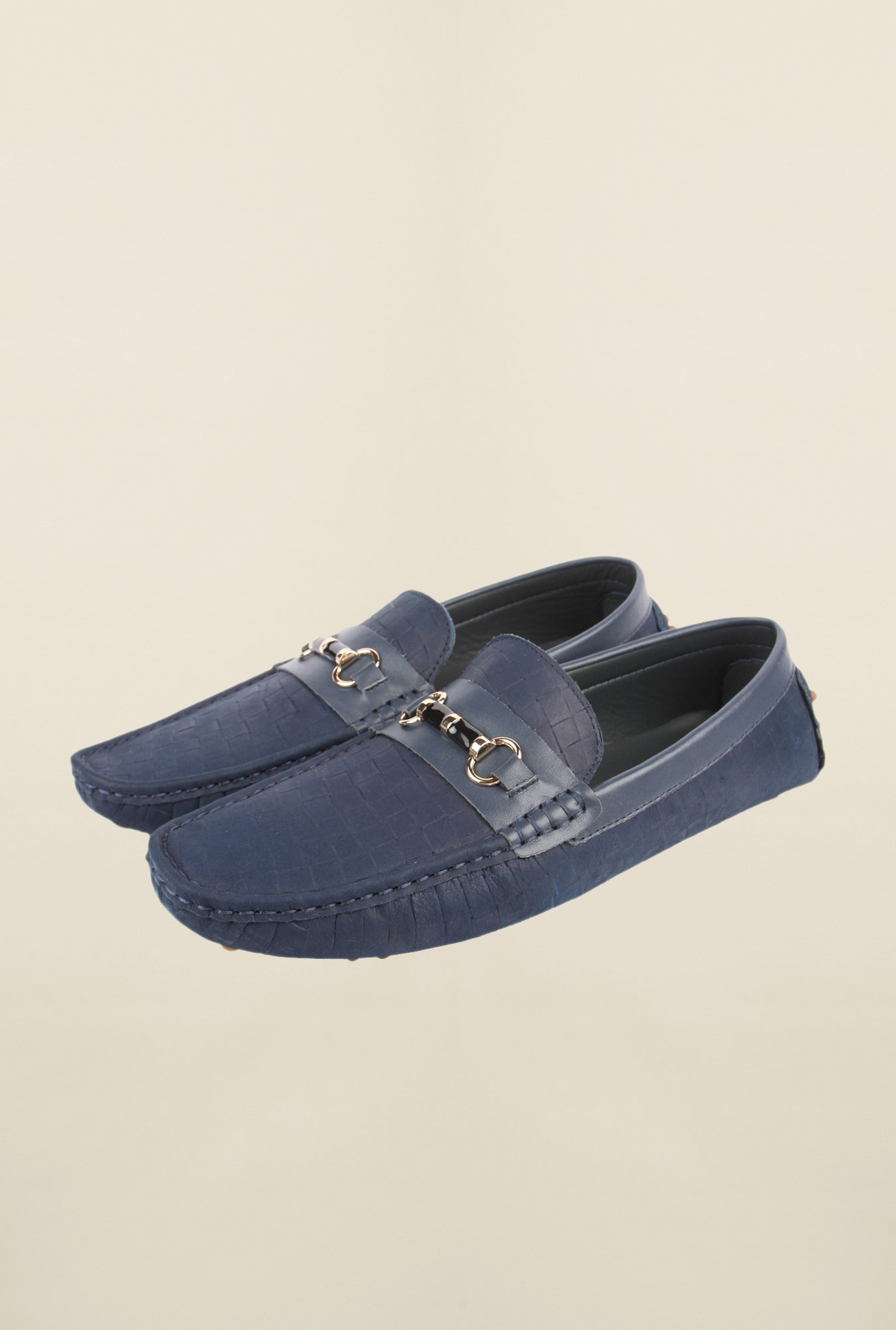 Cobblerz Blue Leather Moccasins