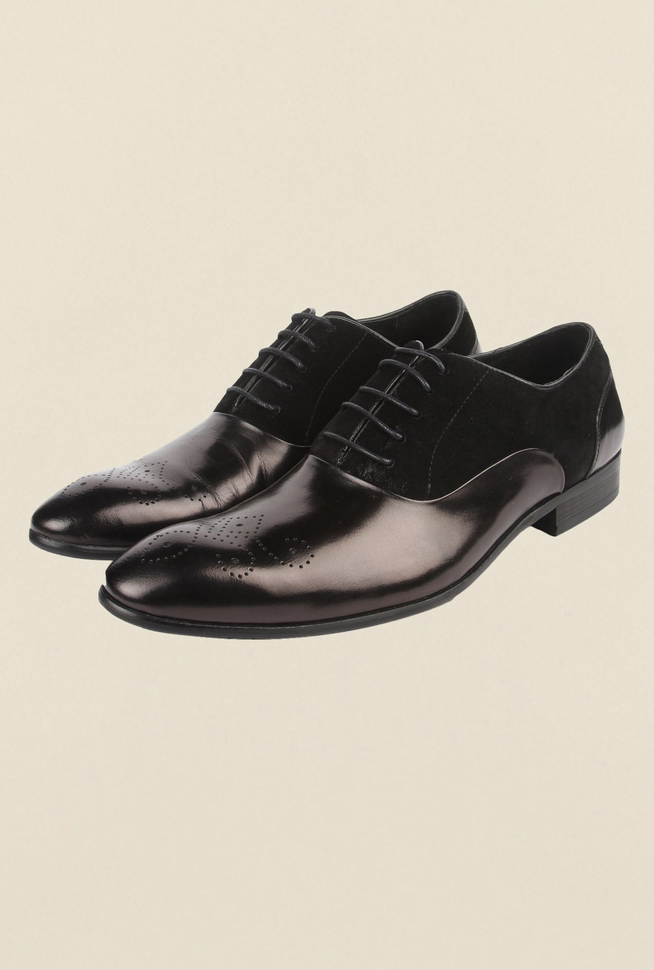 Cobblerz Black Brogue Leather Shoes