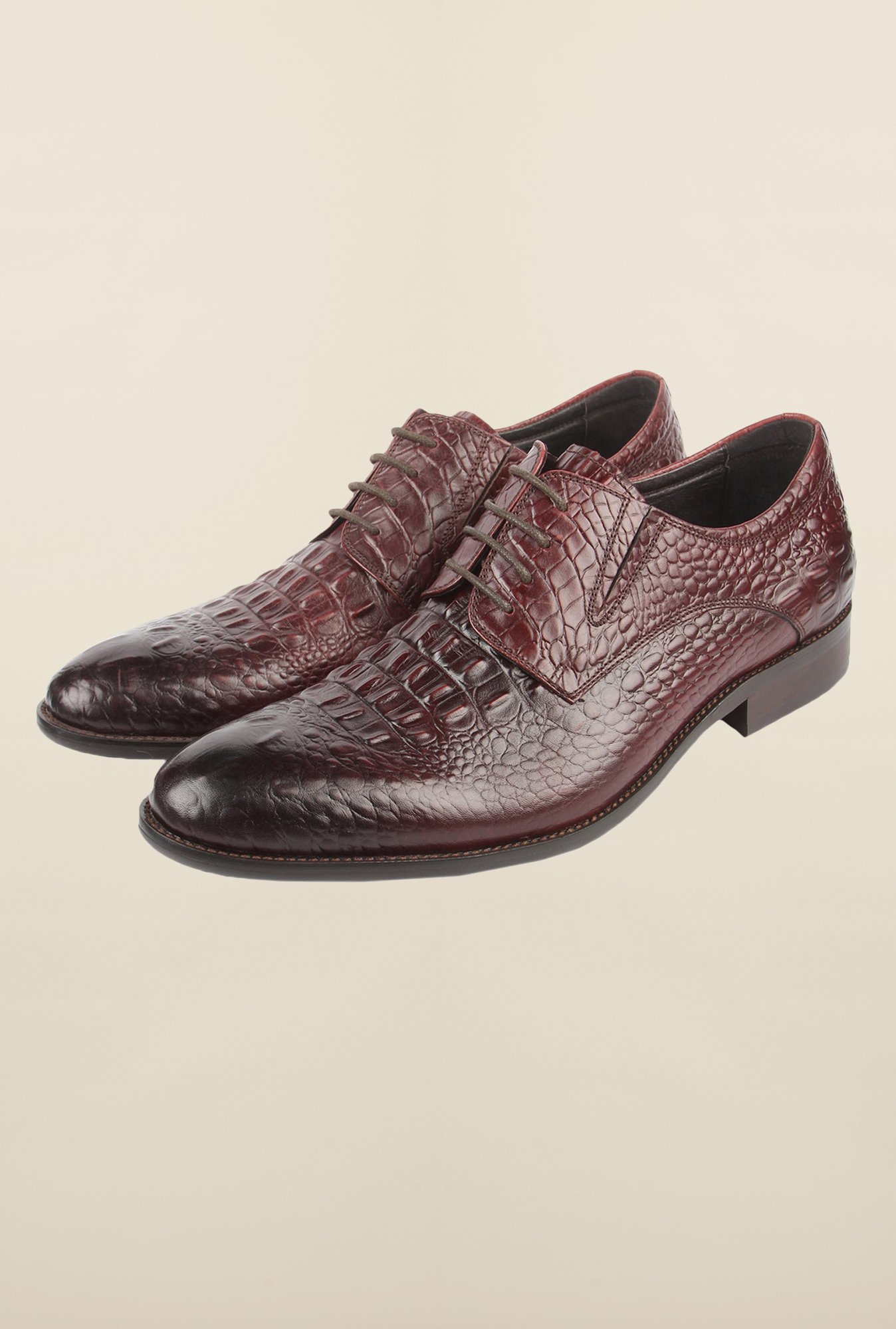 Cobblerz Wine Leather Formal Shoes