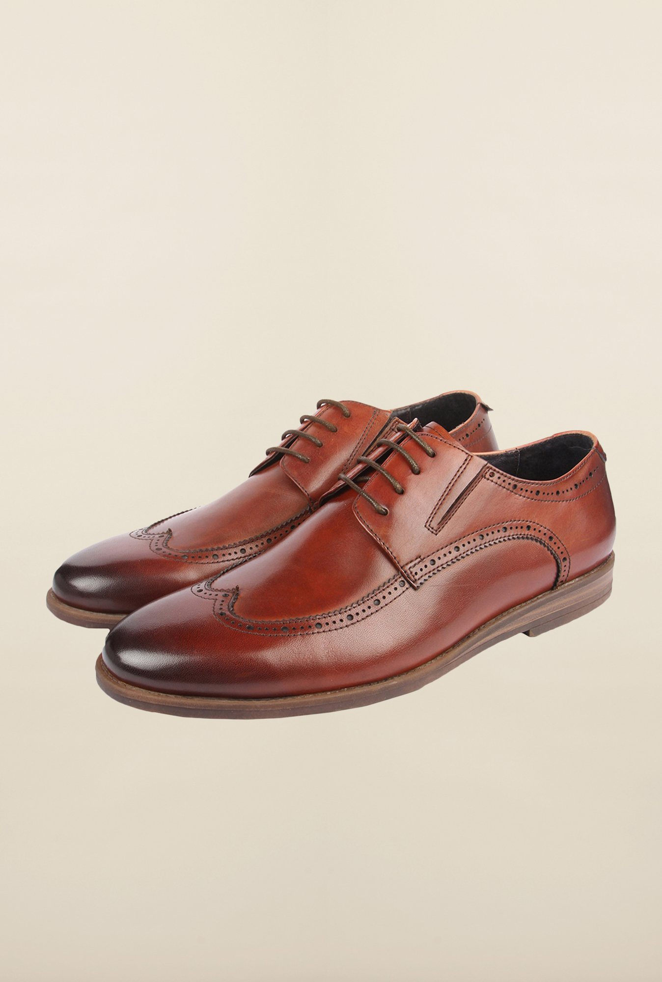 Cobblerz Brown Leather Brogue Shoes