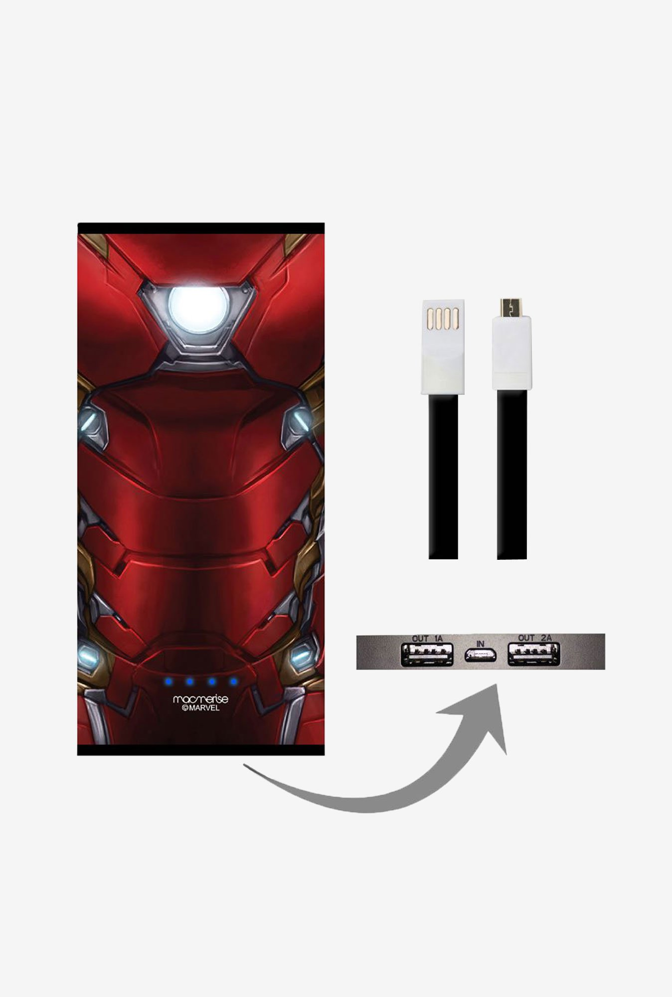 Macmerise Suit Up Ironman 8000 mAh Universal Power Bank