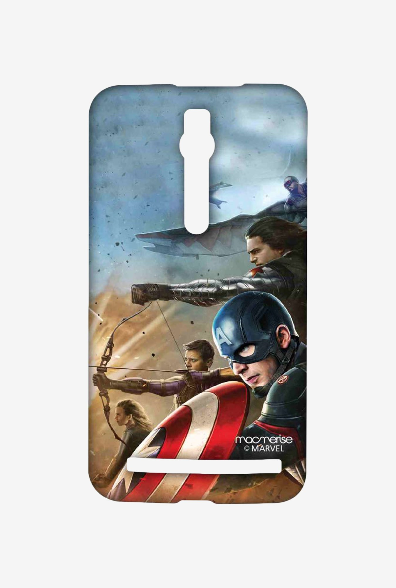Macmerise Team Captain America Asus Zenfone 2 Sublime Case