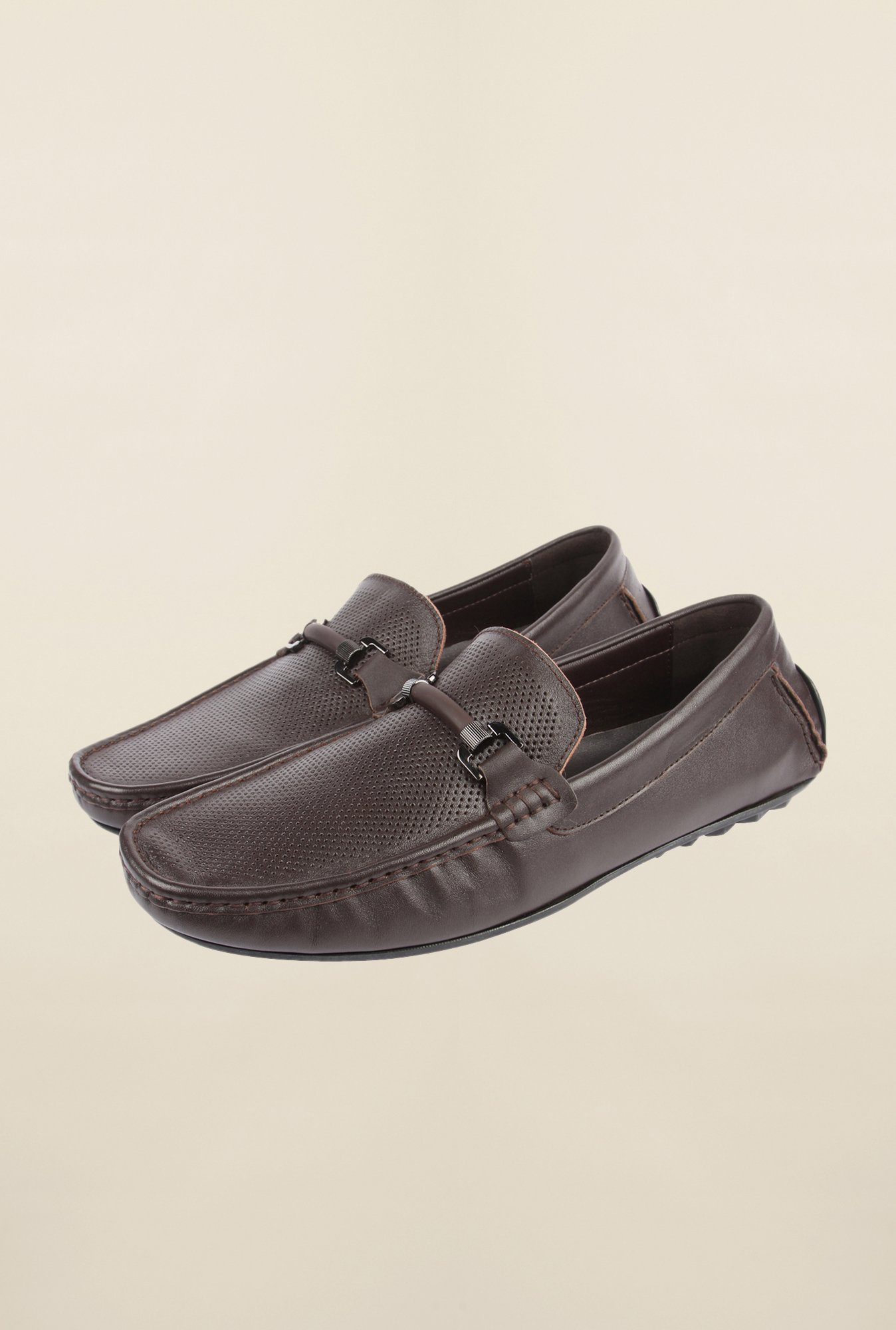 Cobblerz Dark Brown Leather Moccasin Shoes