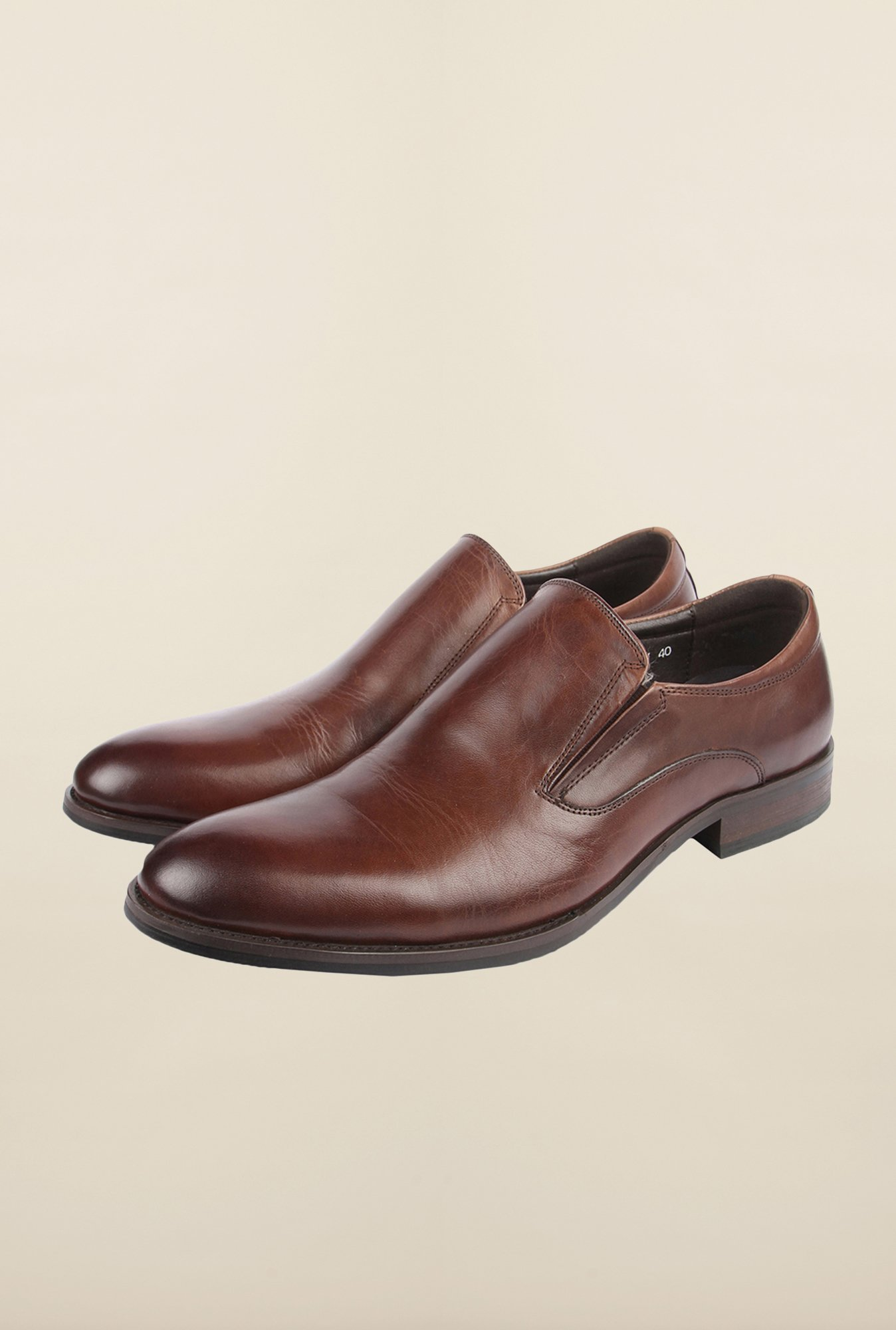 Cobblerz Coffee Leather Formal Shoes