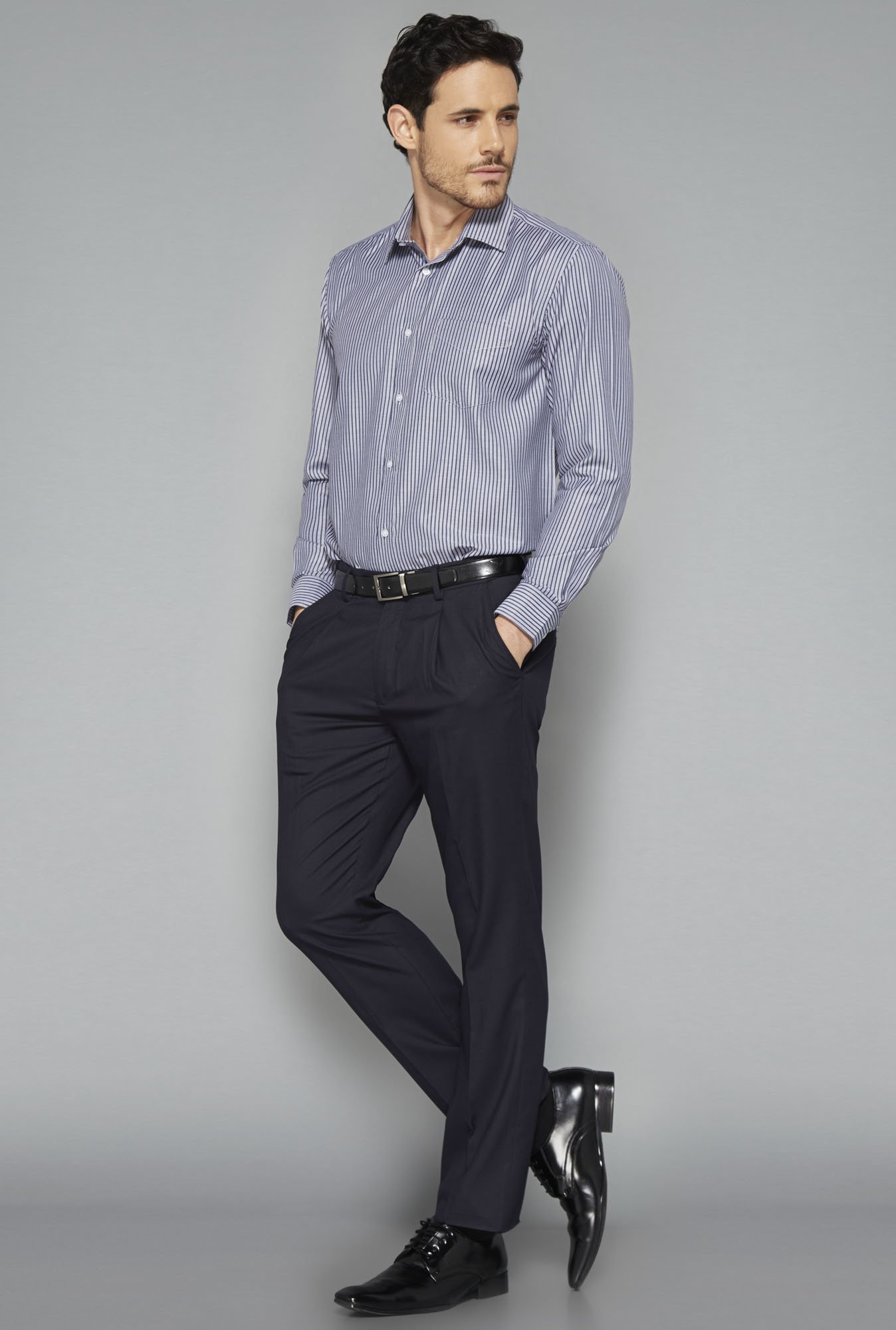 Weststreet Grey Striped Shirt