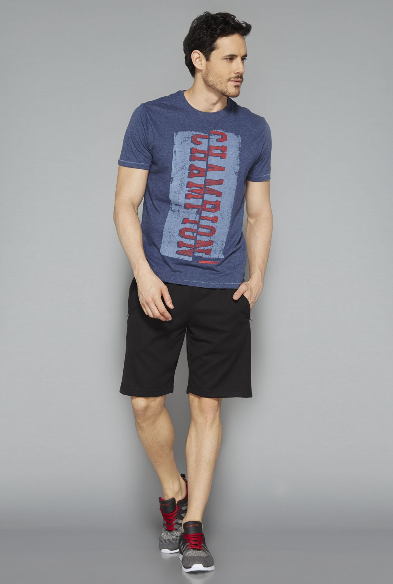 Westsport Active Navy Printed T Shirt