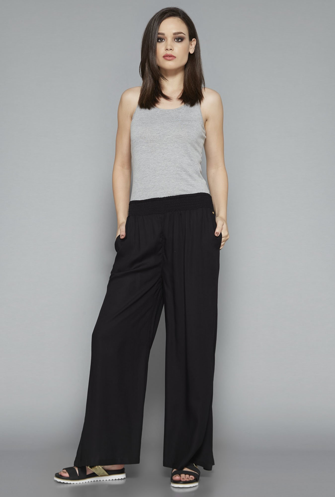 Nuon Black Solid Pant