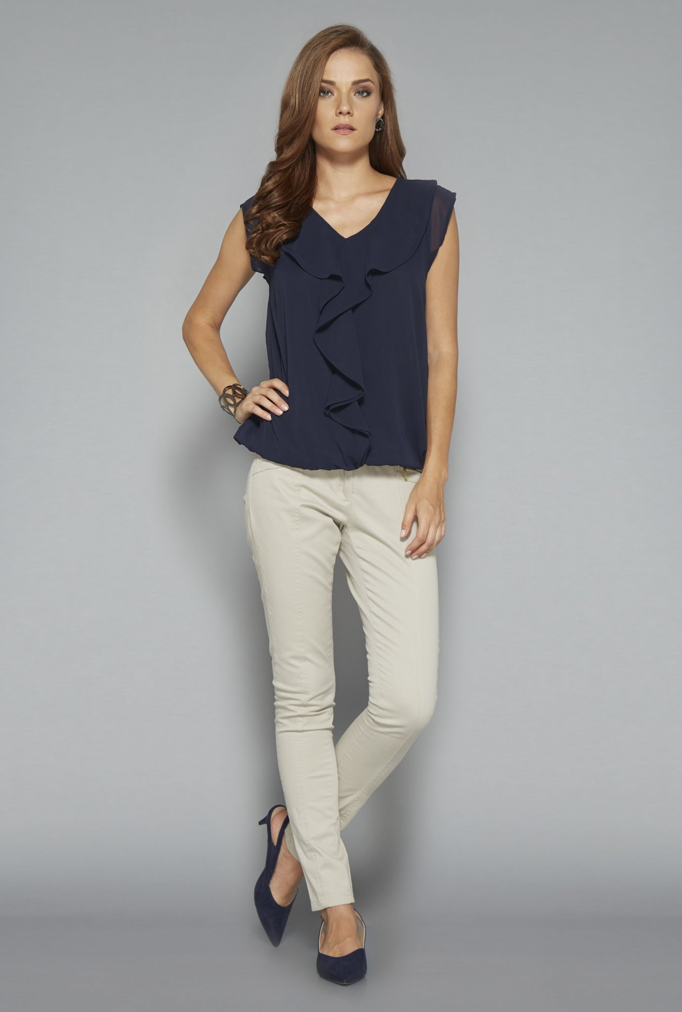 Wardrobe Navy Lola Blouse