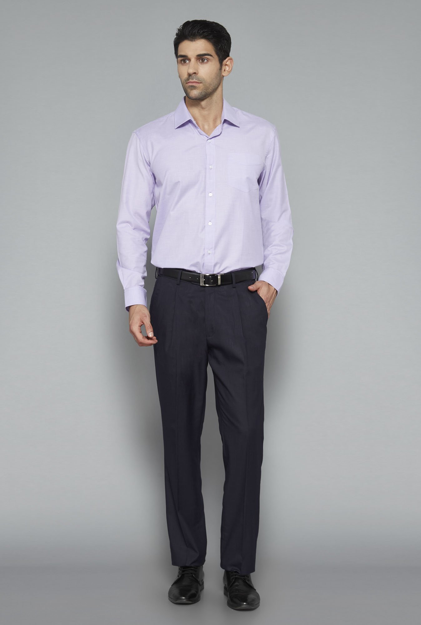 Weststreet Purple Solid Shirt