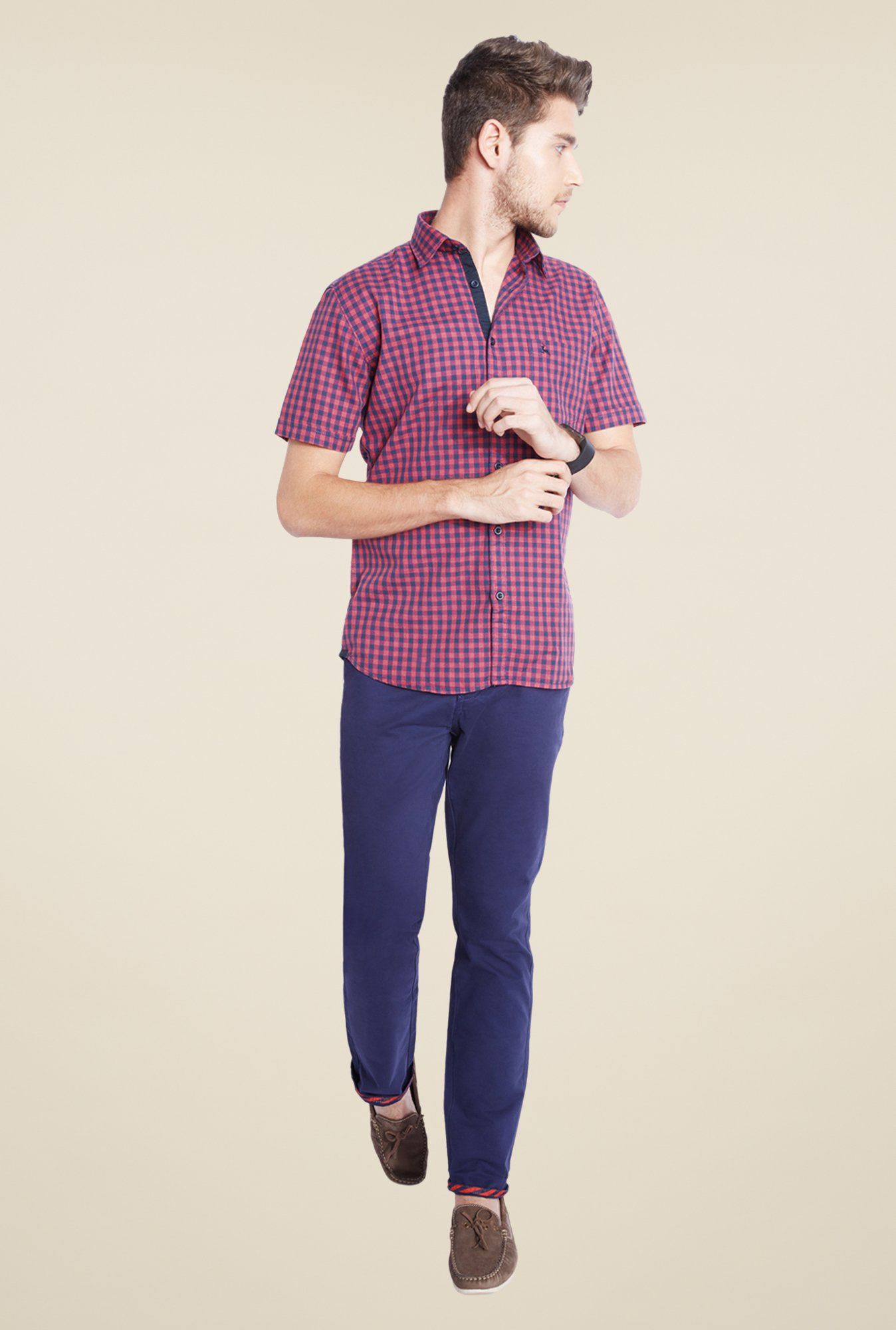 Parx Pink & Blue Checks Shirt