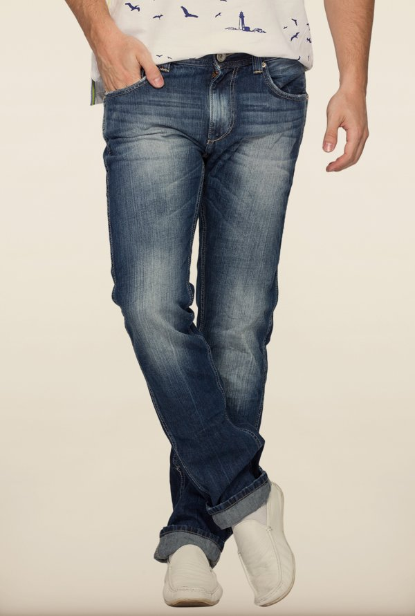 Spykar Blue Slim Fit Denim Jeans