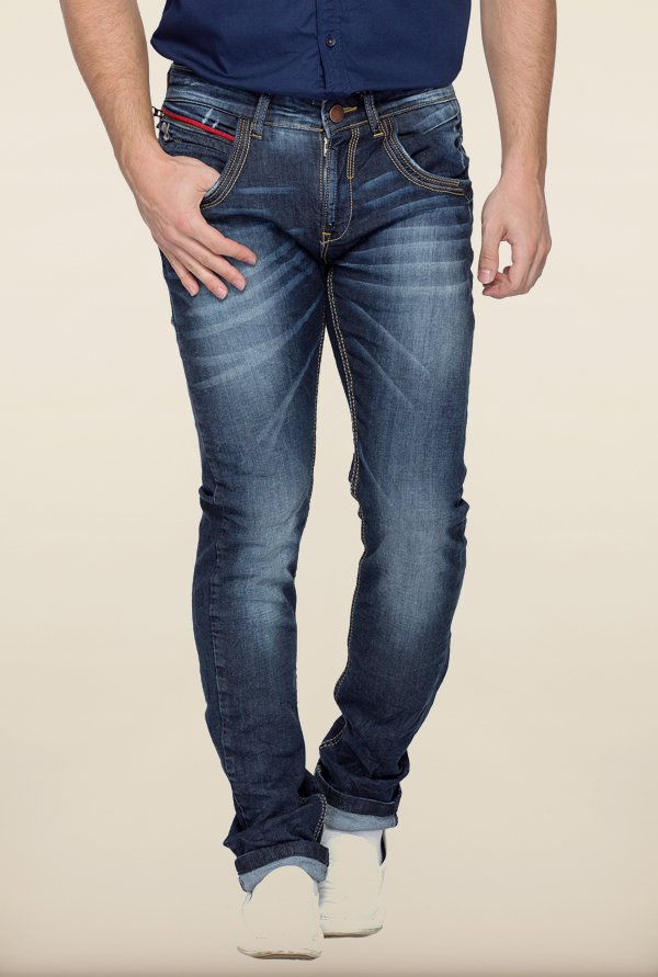 Spykar Blue Washed Jeans