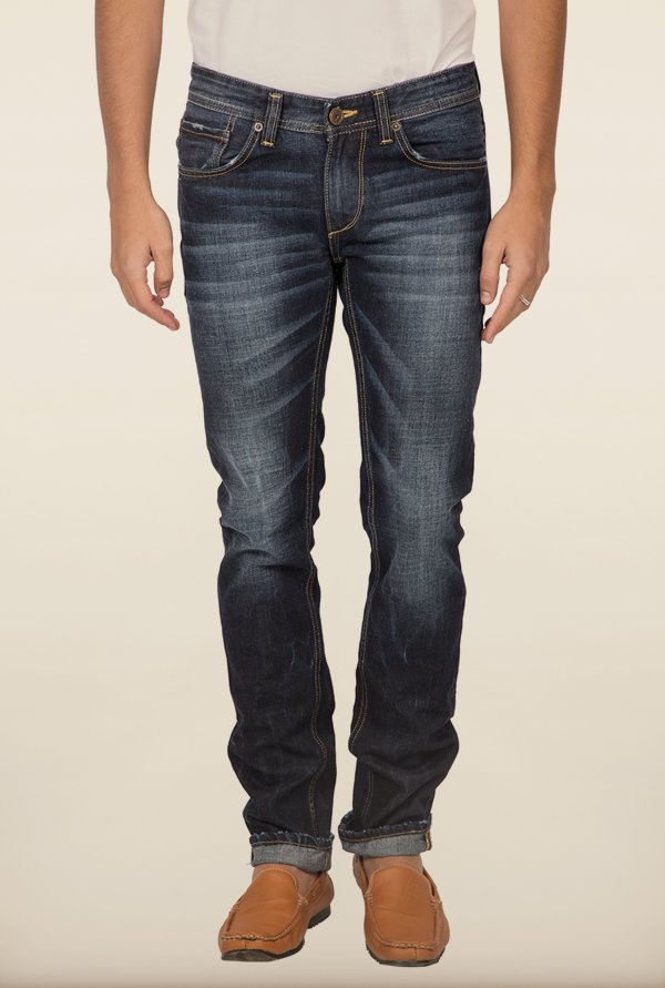 Spykar Dark Blue Low Rise Skinny Fit Jeans