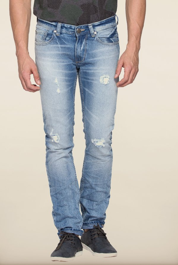 Spykar Light Blue Denim Skinny Fit Jeans