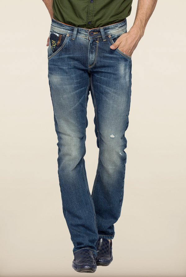 Spykar Blue Low Rise Skinny Fit Jeans