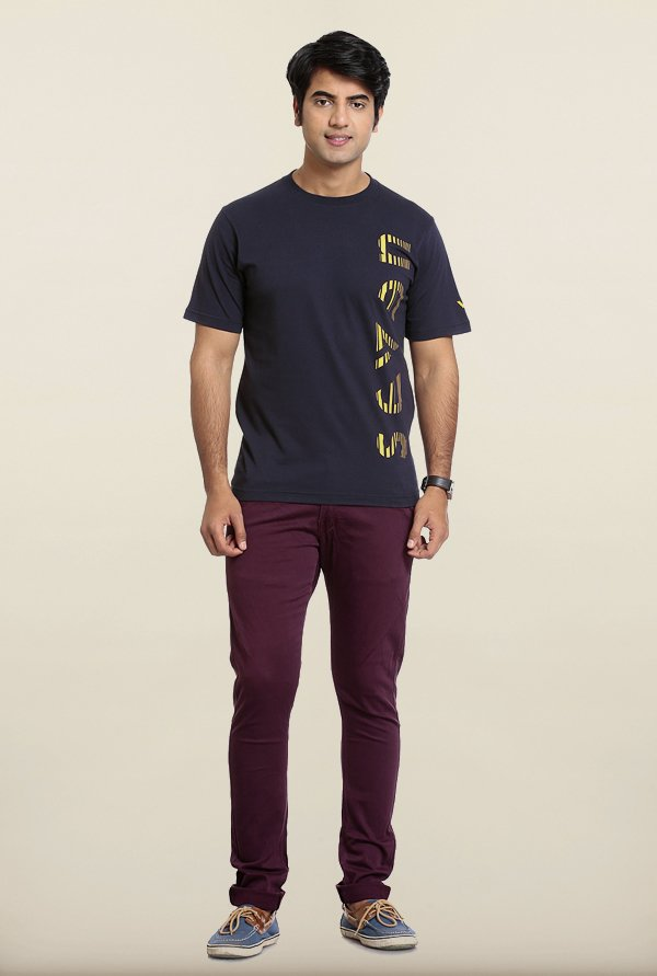 Seven Navy Cotton T-Shirt