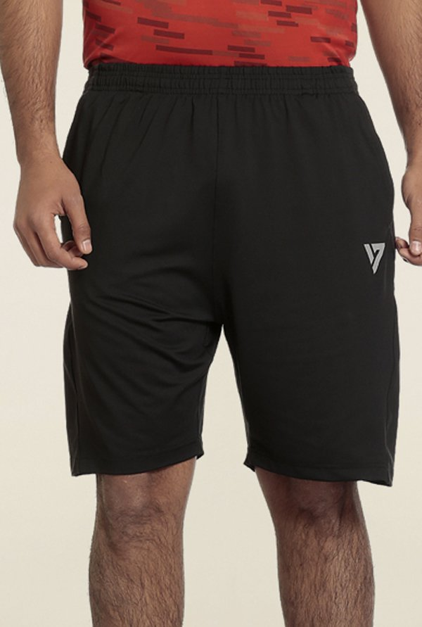 Seven Black Running Sports Shorts