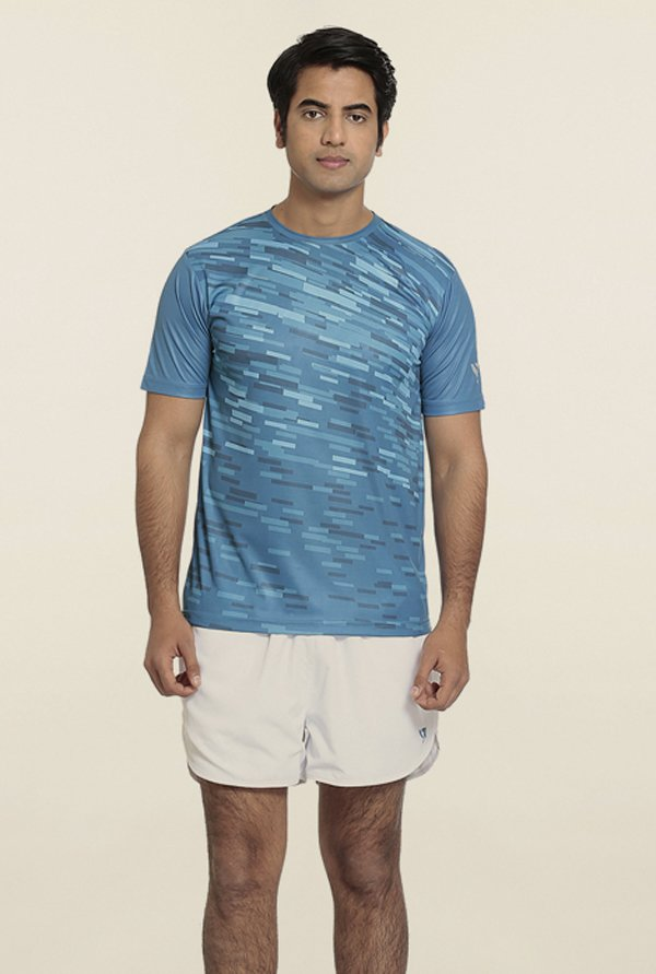 Seven Blue Splash Printed T-Shirt