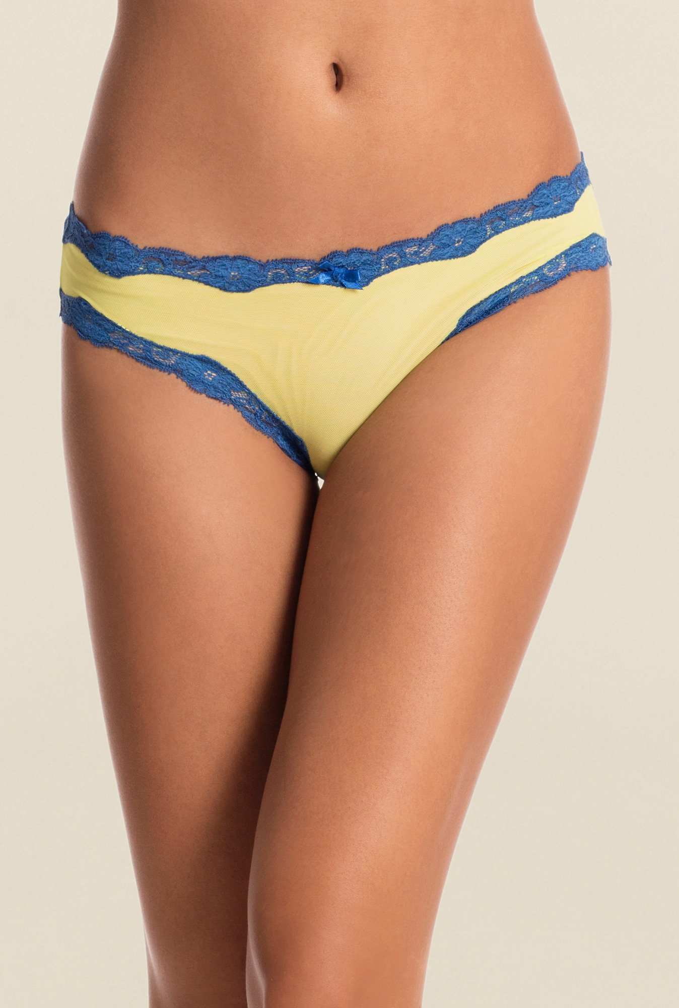 Pretty Secrets Color Crush Lime & Blue Bikini Panty
