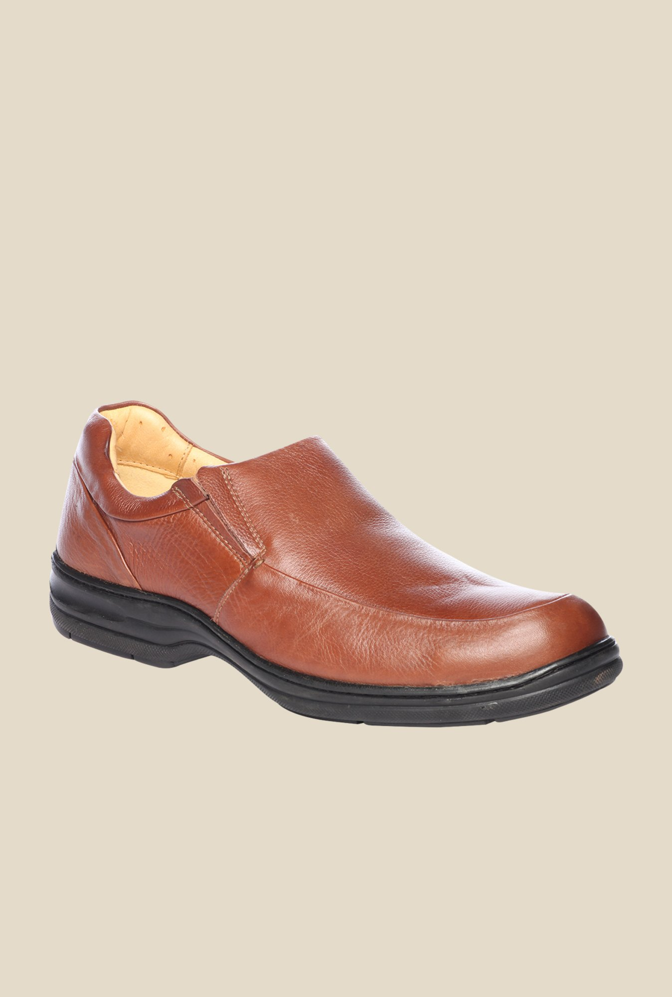 Pavers England Brown Leather Slip-Ons