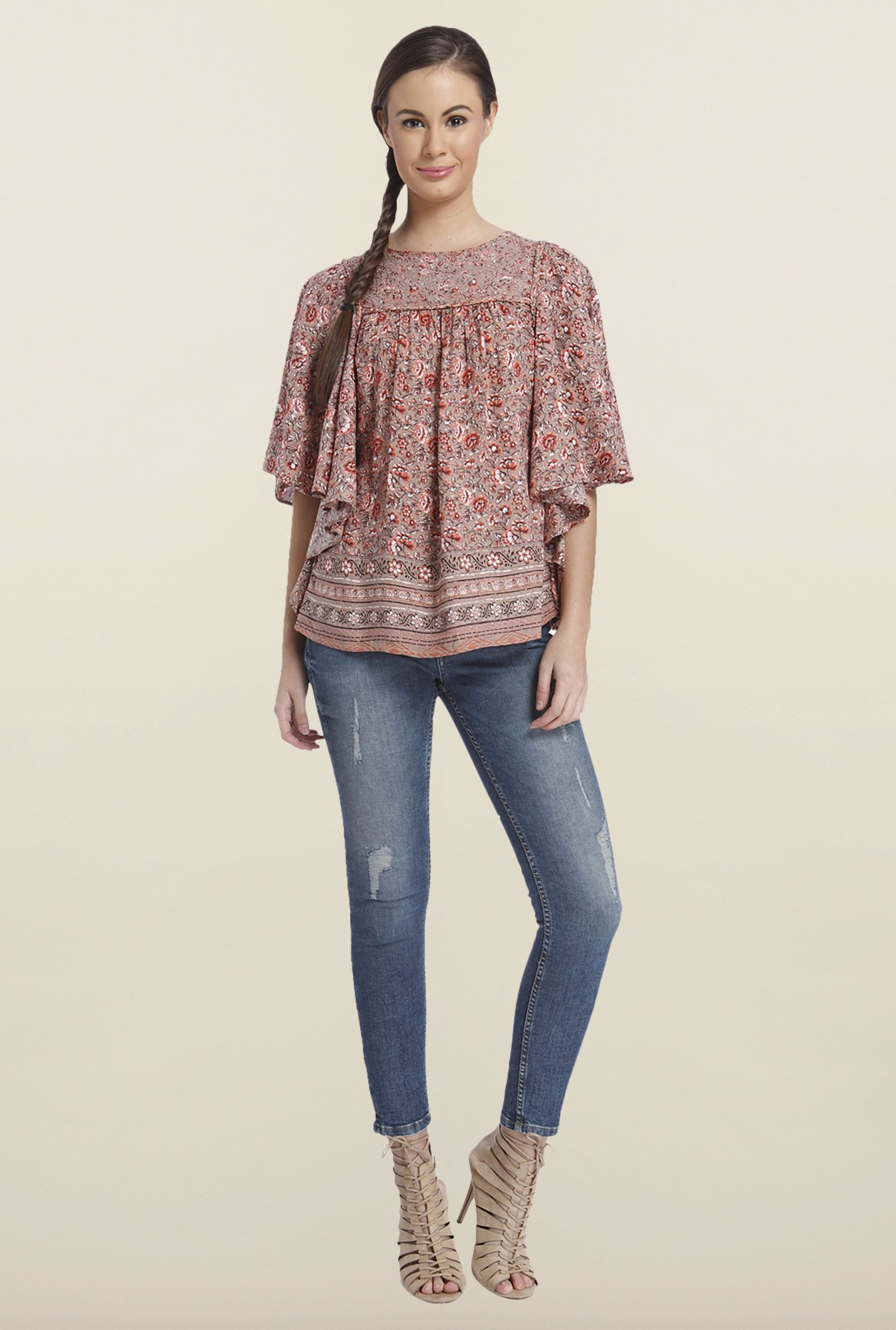 Only Adobe Rose Floral Printed Top