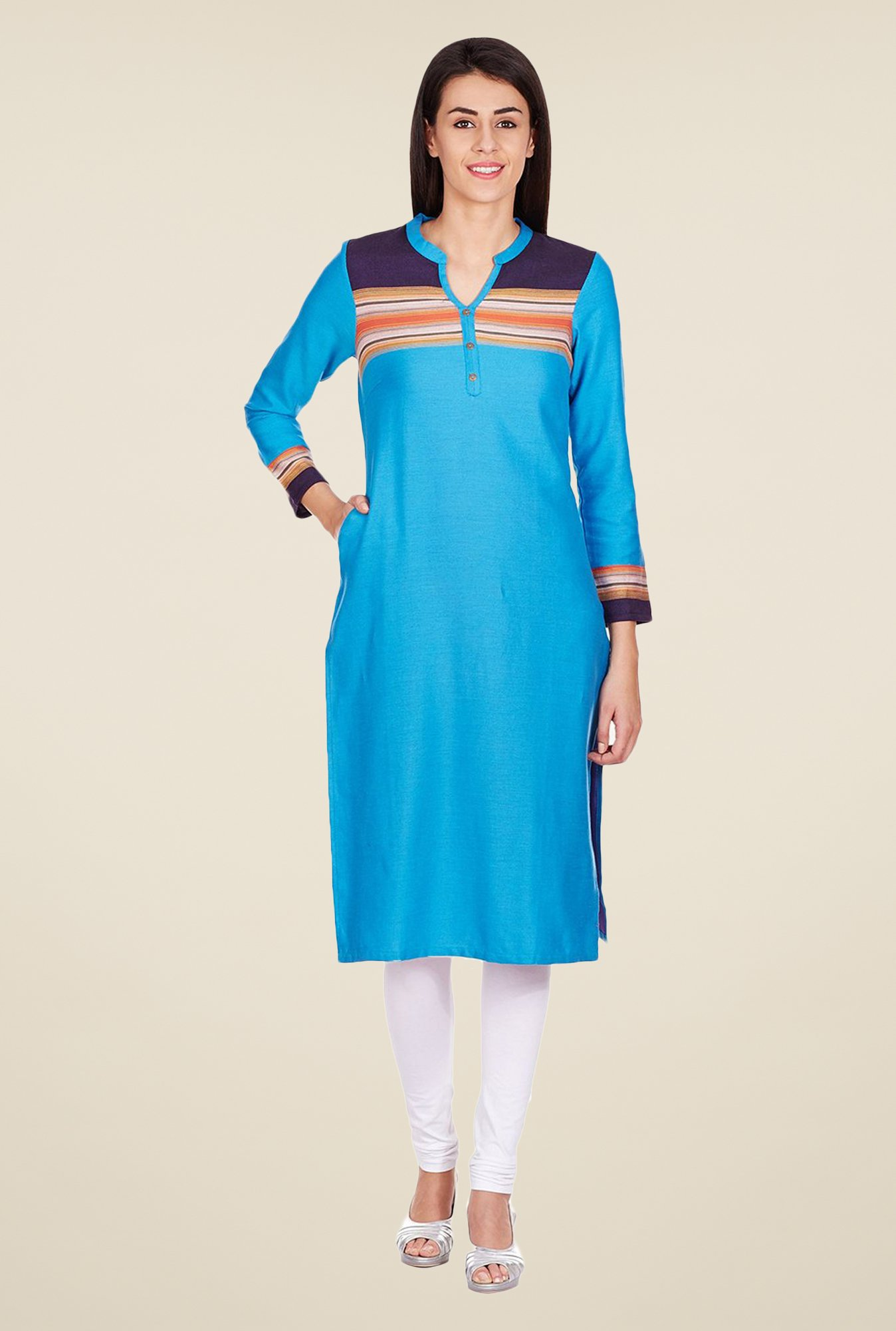 Aurelia Blue Regular Fit Kurta