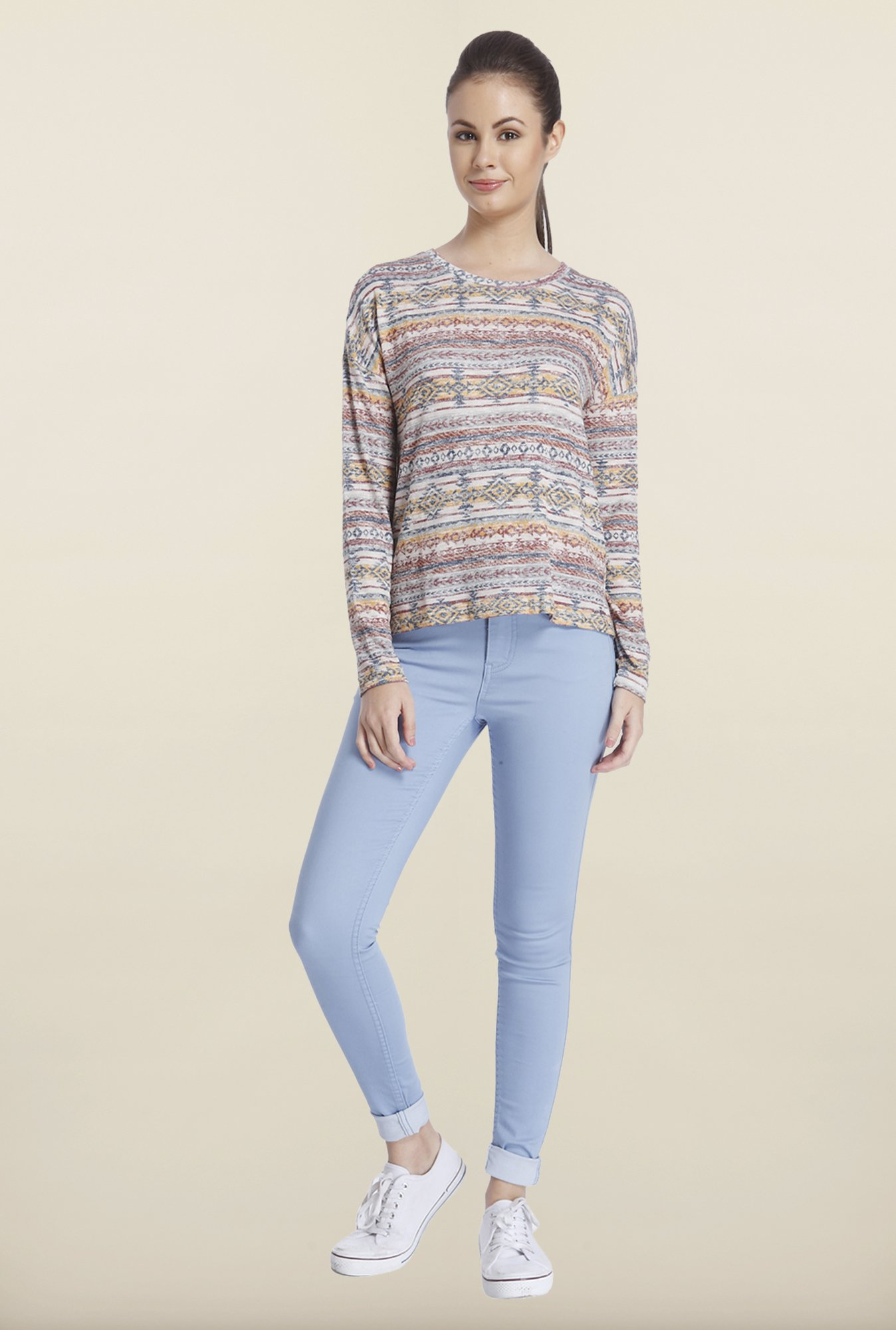 Only Multicolor Printed Top