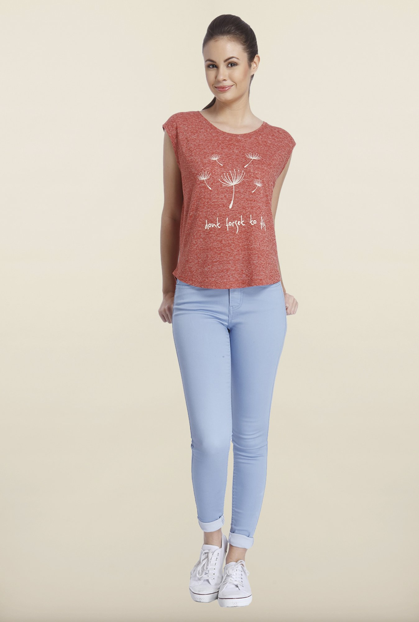 Only Marsala Graphic Printed T-shirt