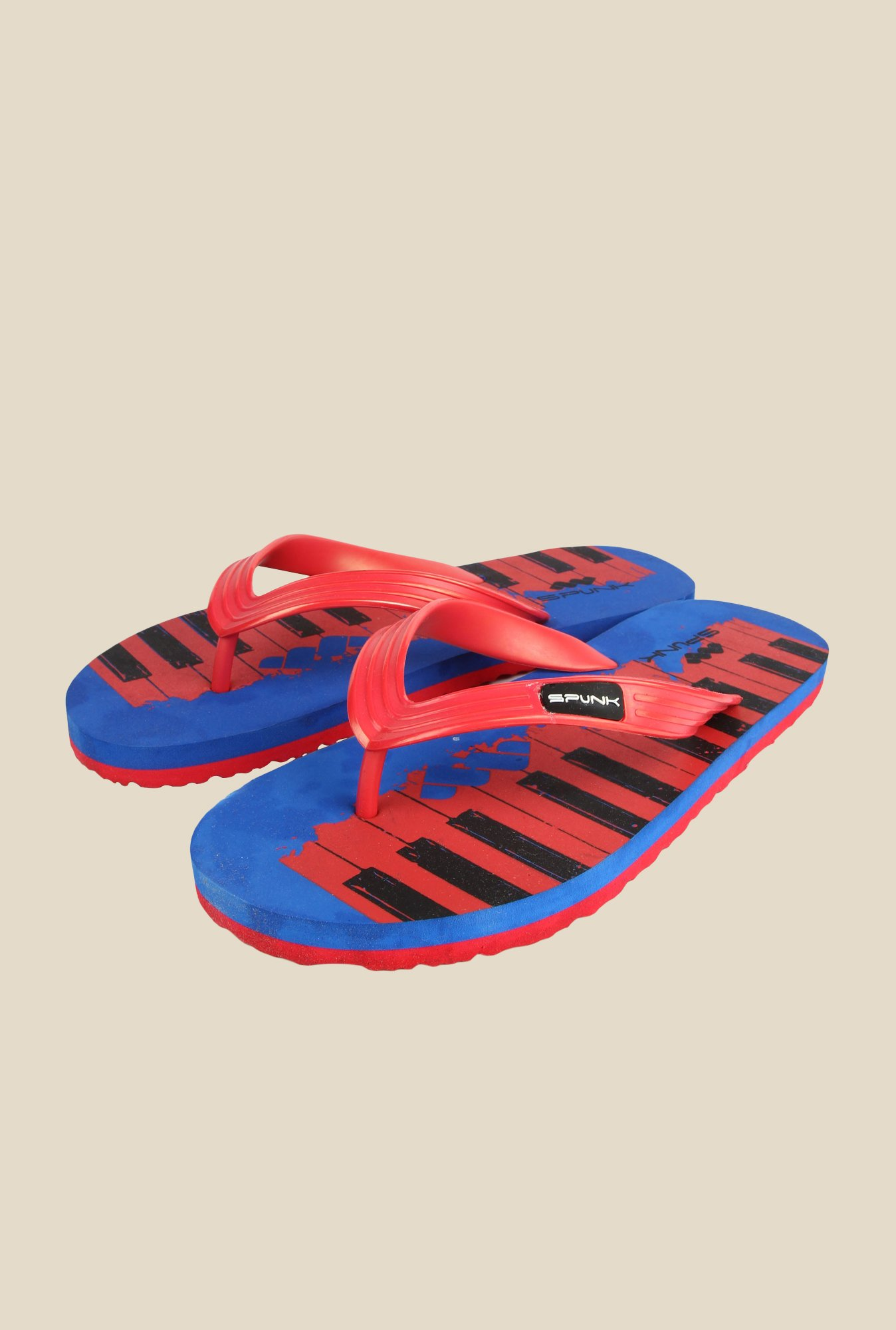 Spunk Piano Red & Blue Slippers