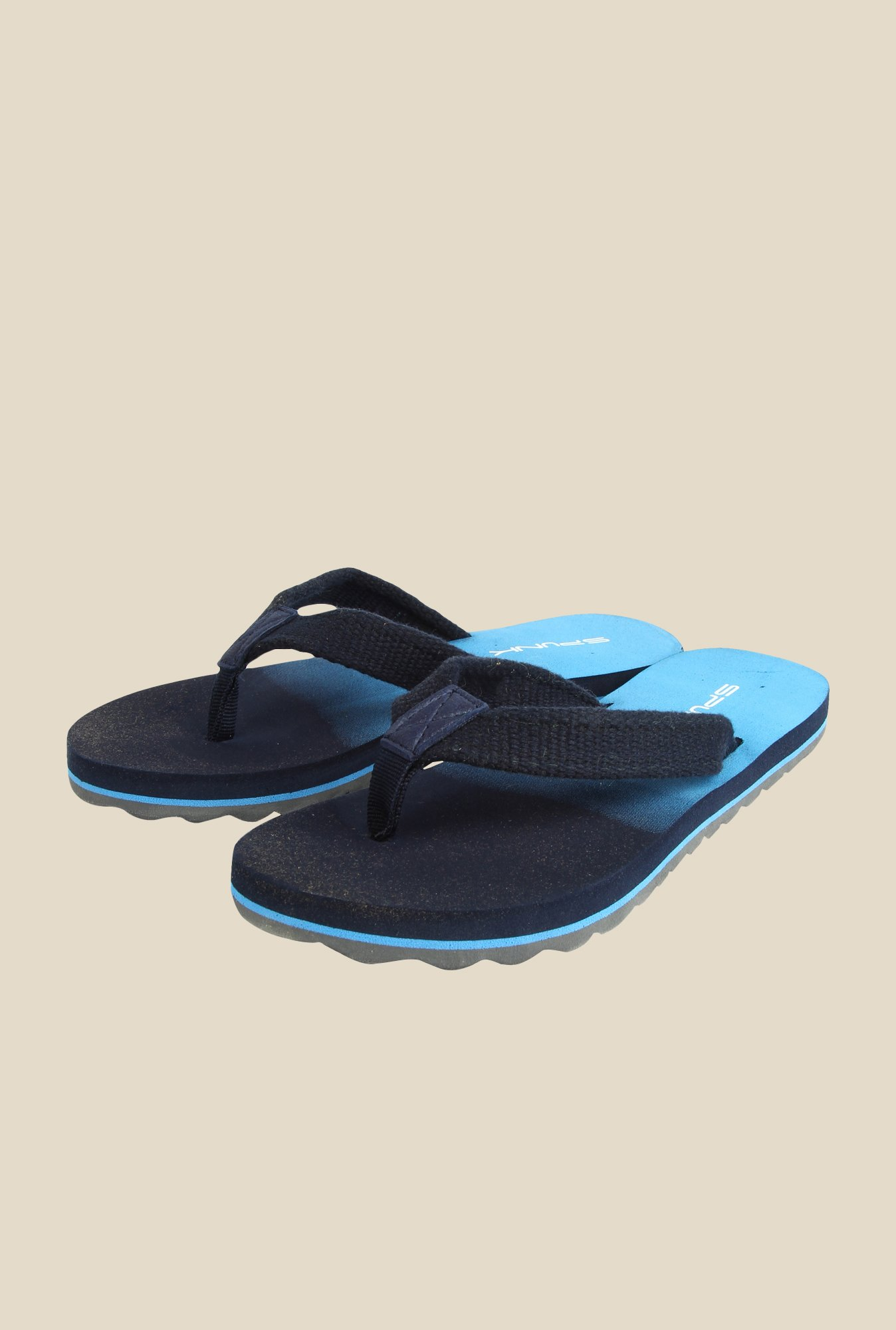 Spunk Sunshine Twilight Blue Flip Flops