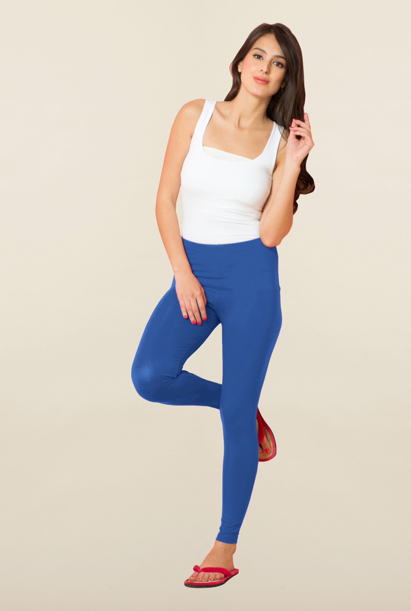 Sweet Dreams Royal Blue Solid Leggings