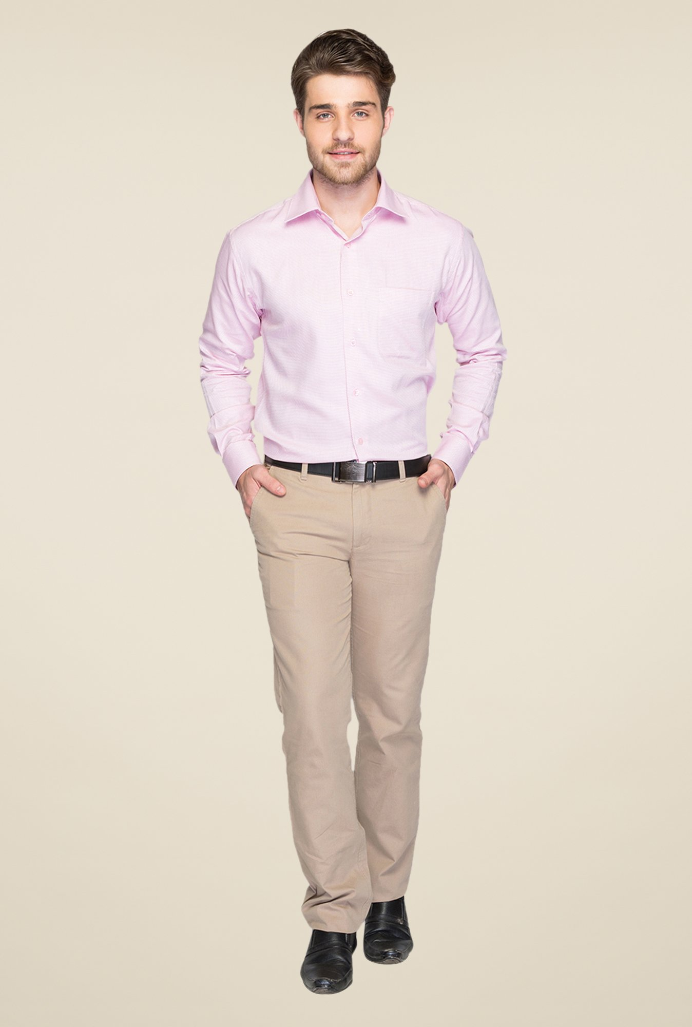 Raymond Pink Self Design Shirt