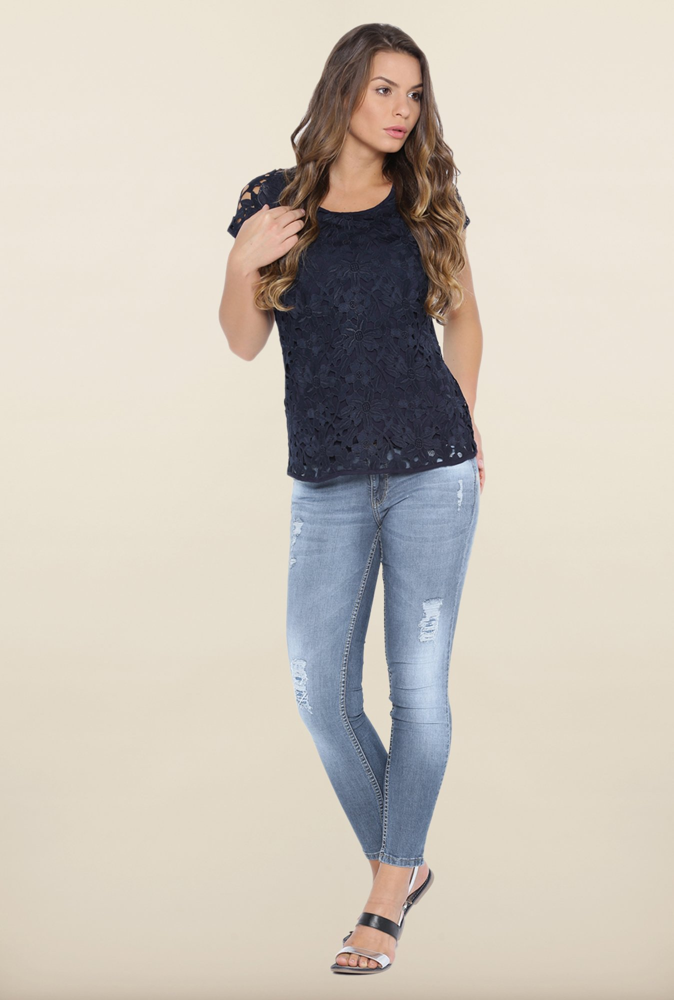 Kraus Blue Distressed Jeans