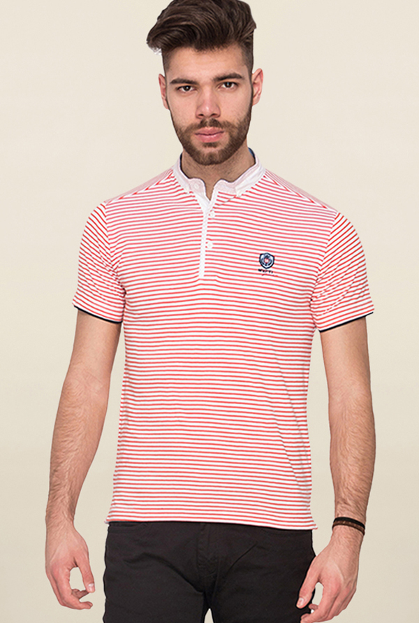 Mufti Red Striped T Shirt