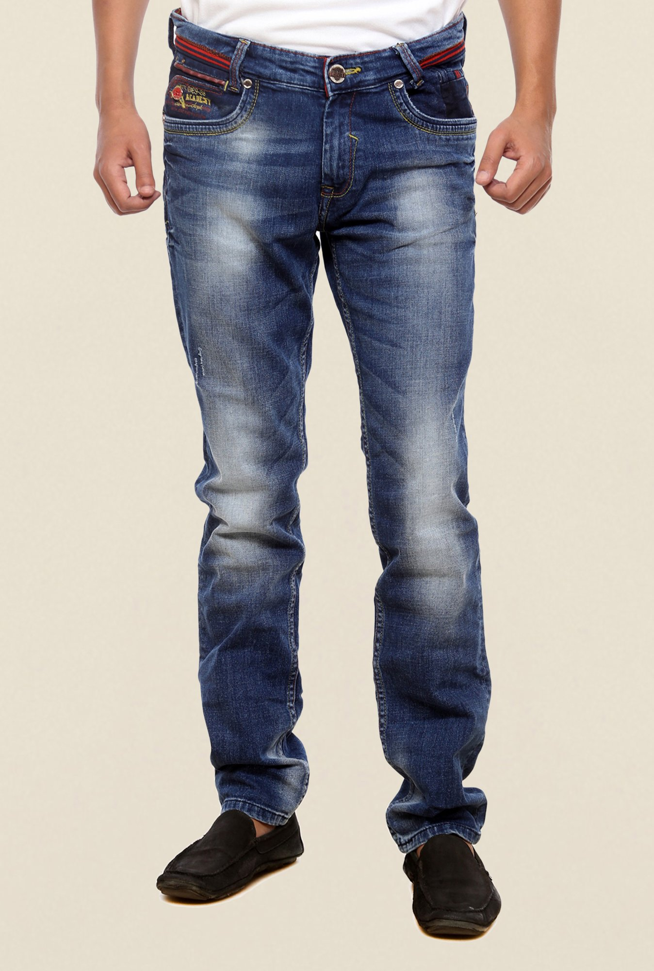 Mufti Blue Lightly Washed Jeans