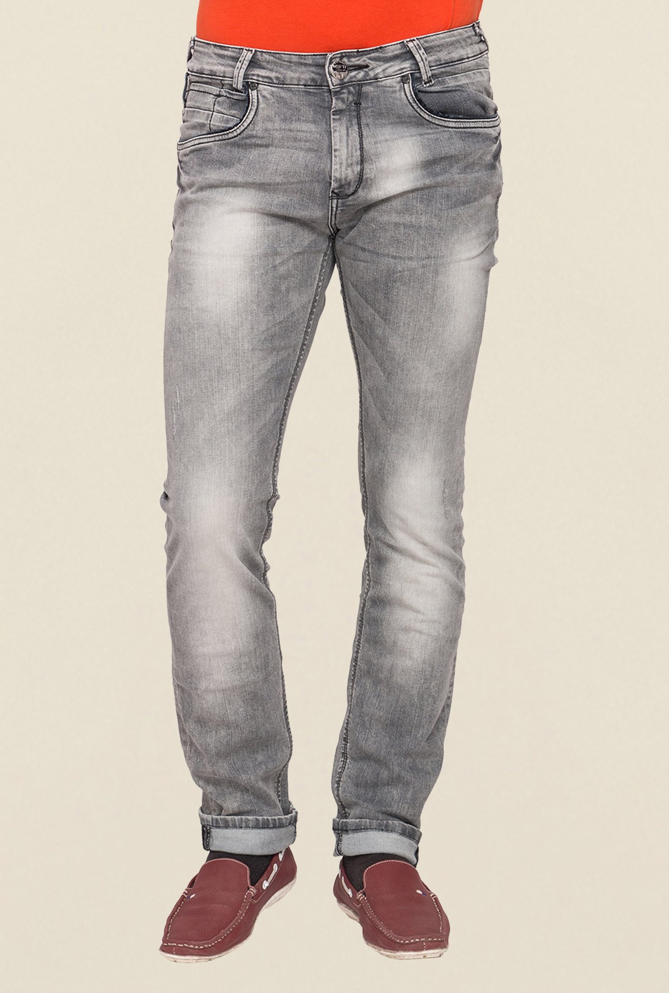 Mufti Grey Low Rise Jeans