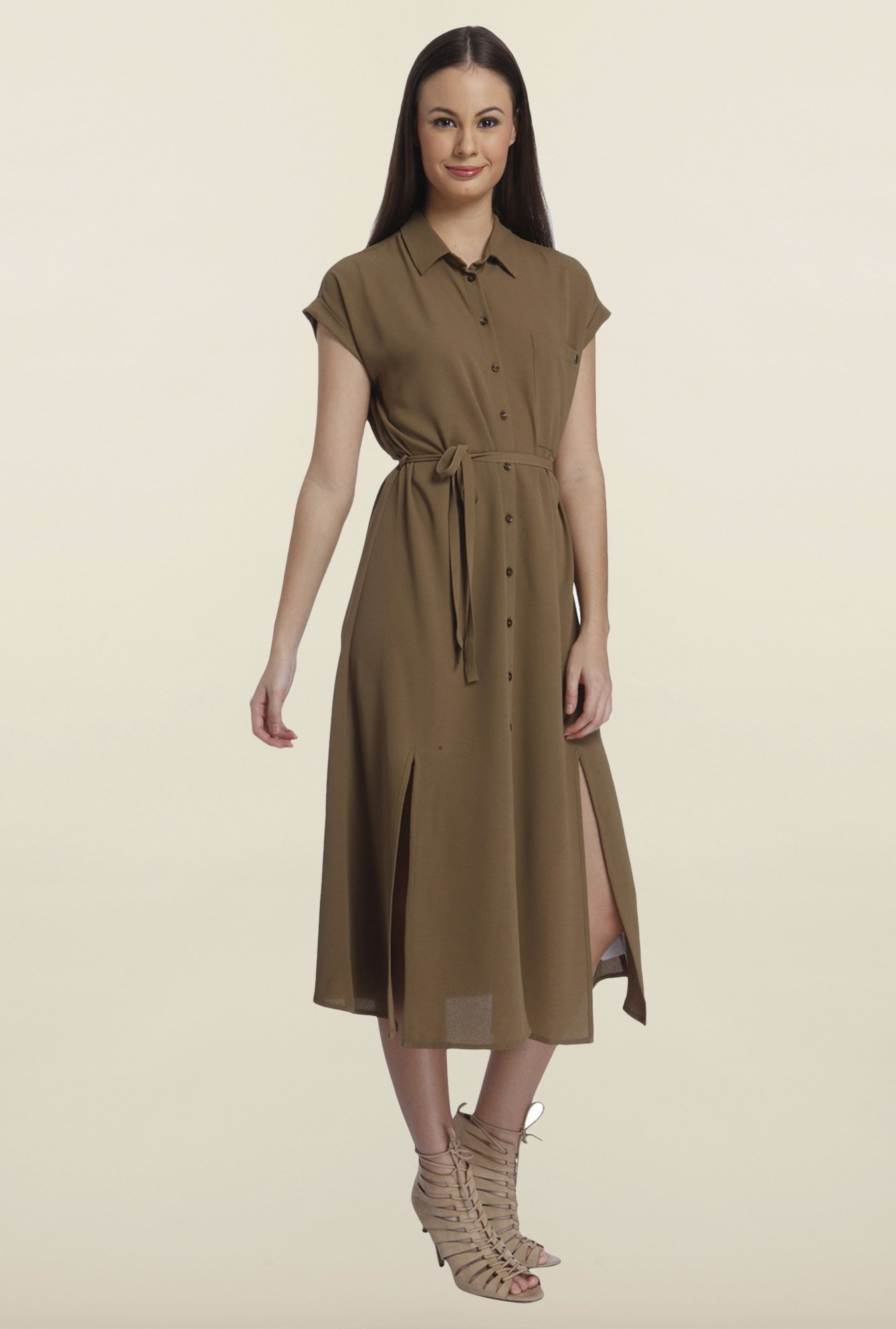 Only Kangaroo Solid Midi Dress