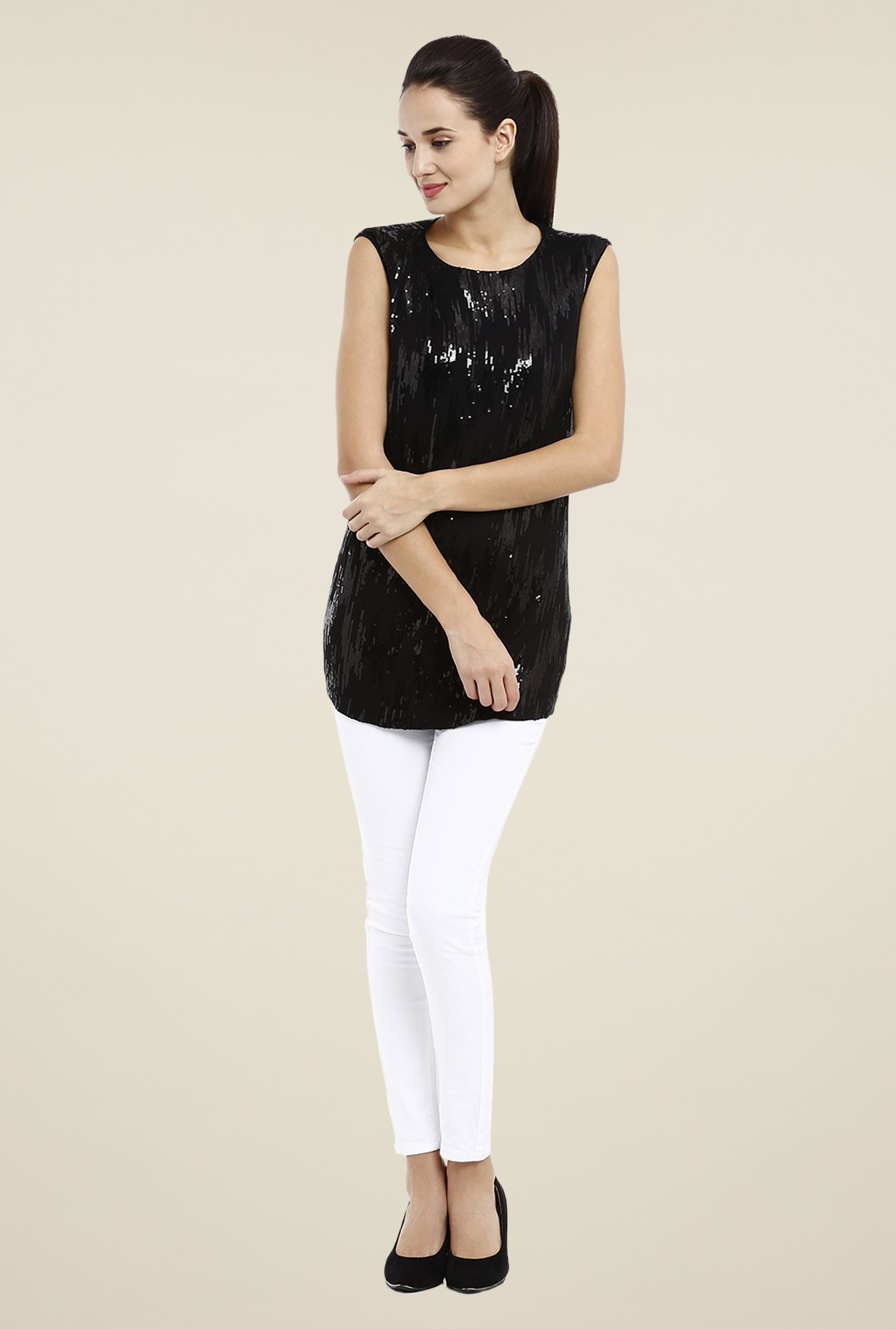 Avirate Black Embellished Top