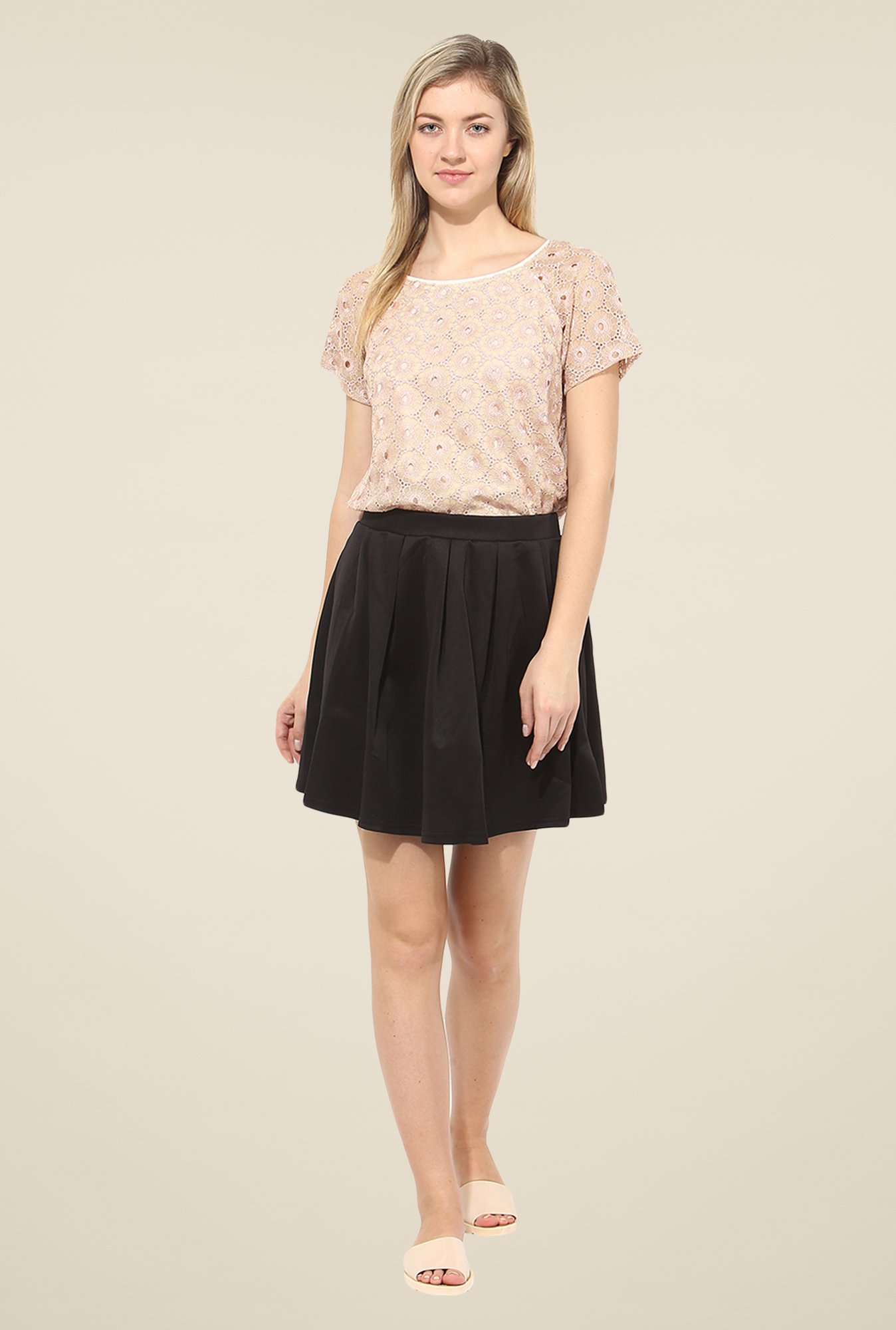 Avirate Pink Embroidered Top